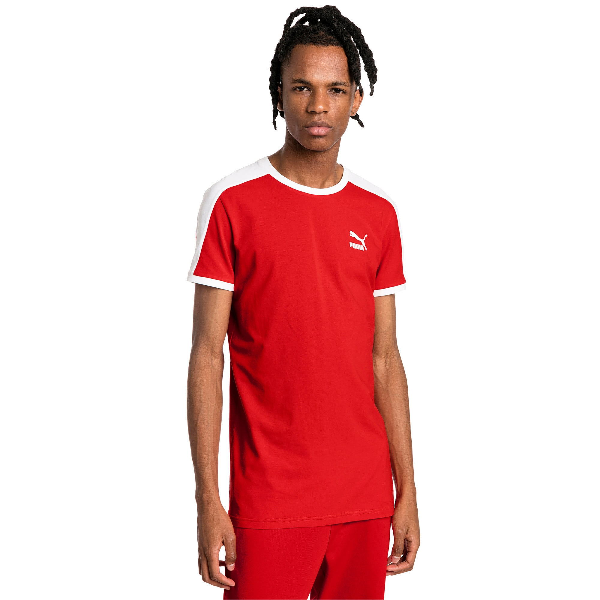 Thumbnail 1 of Iconic T7 Slim Men's Tee, High Risk Red, medium-IND