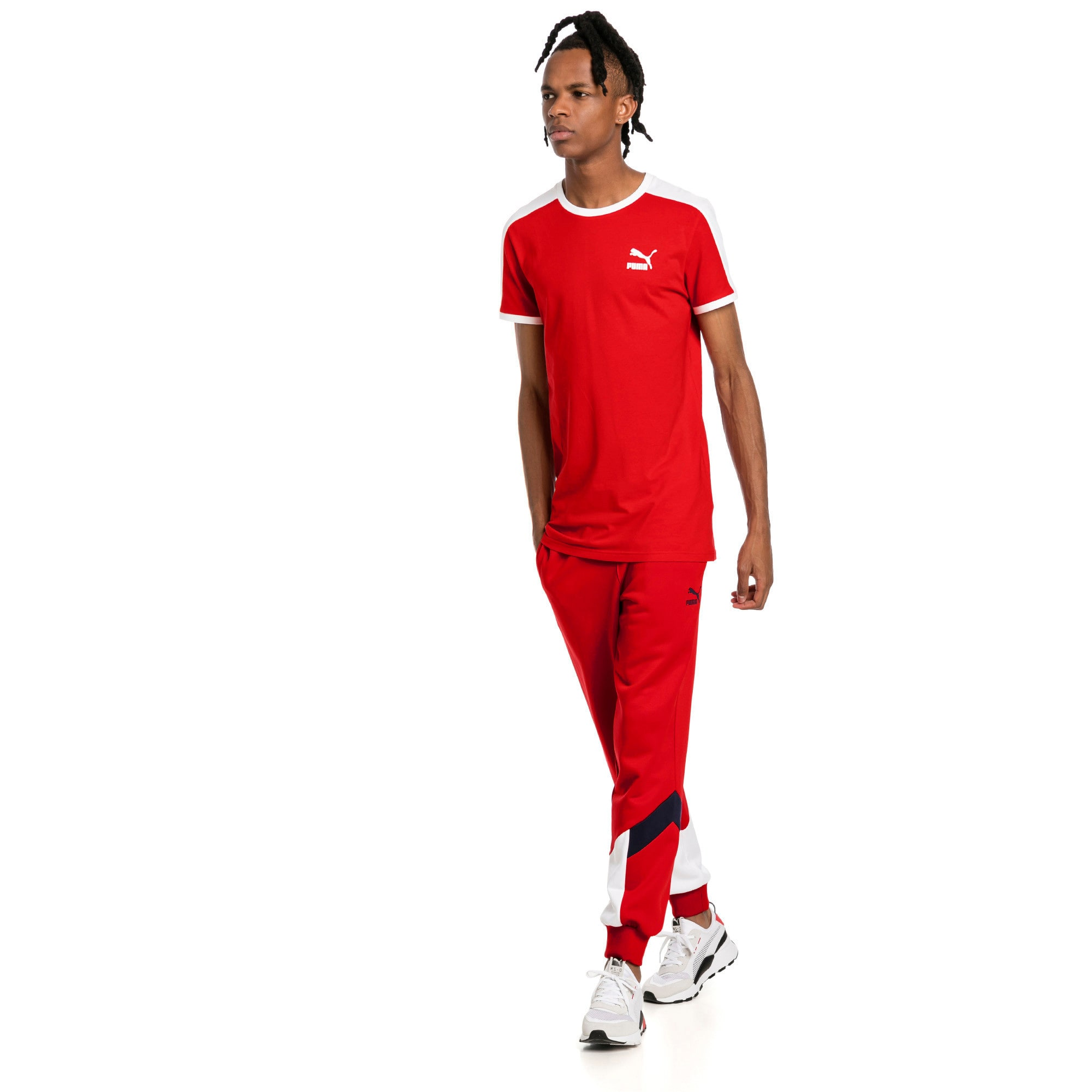 Thumbnail 2 of Iconic T7 Slim Men's Tee, High Risk Red, medium-IND