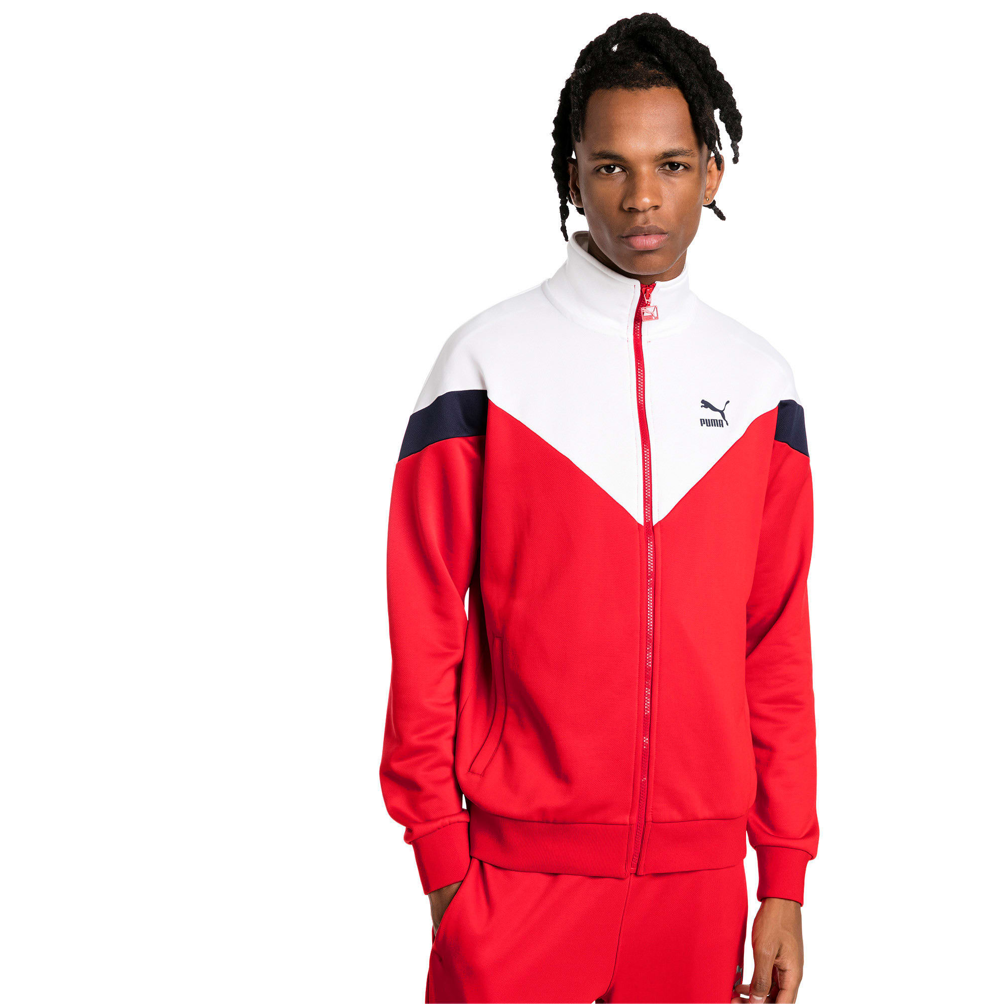 Thumbnail 1 of Iconic MCS Track Jacket, High Risk Red, medium-IND