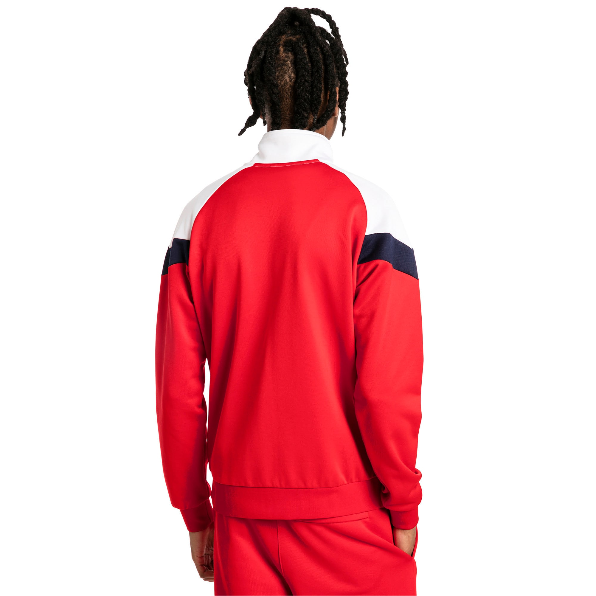 Thumbnail 2 of Iconic MCS Track Jacket, High Risk Red, medium-IND