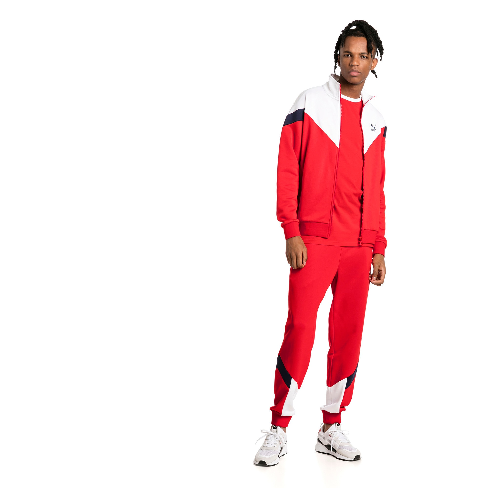 Thumbnail 3 of Iconic MCS Track Jacket, High Risk Red, medium-IND