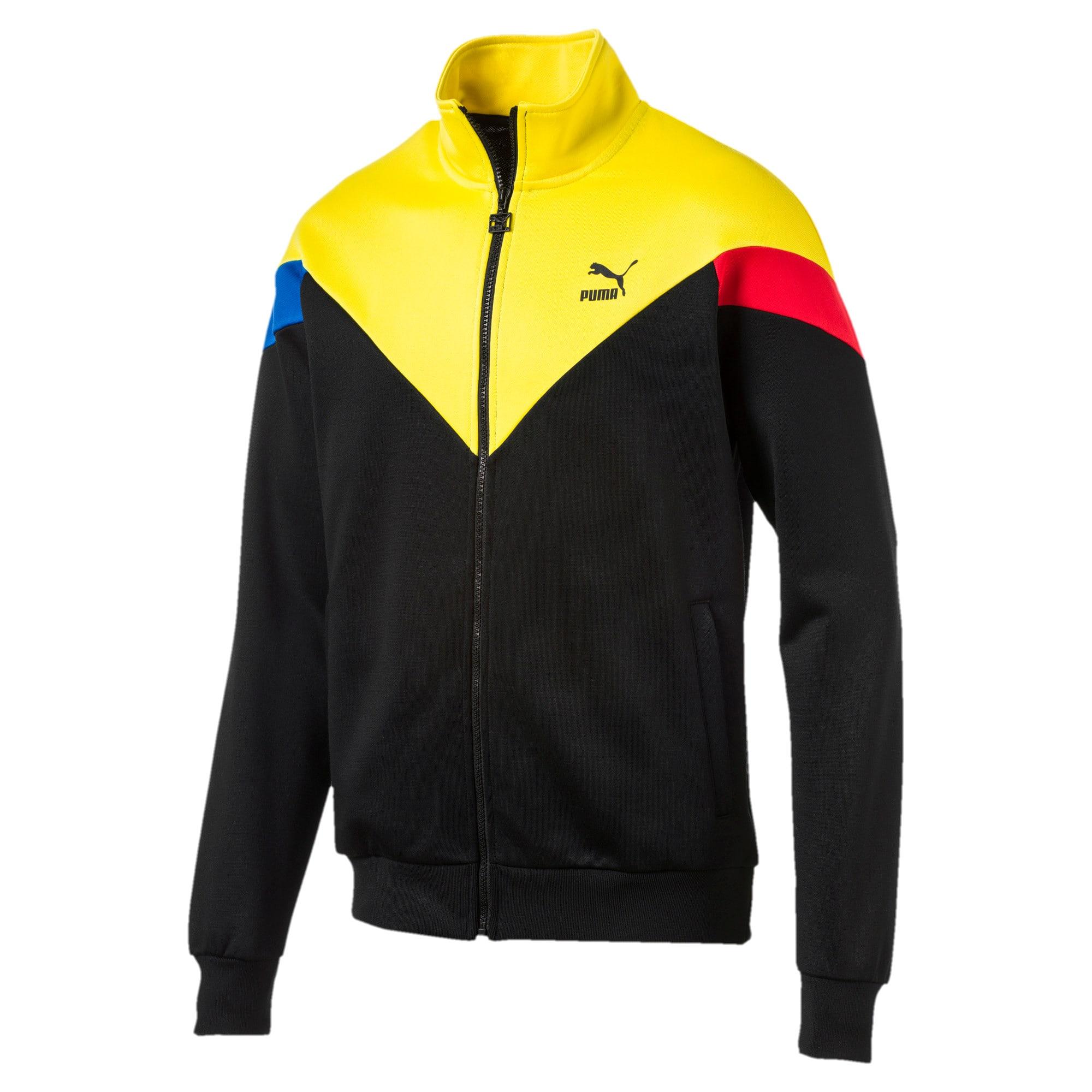 Thumbnail 1 of Iconic MCS Men's Track Jacket, Puma Black-yellow, medium