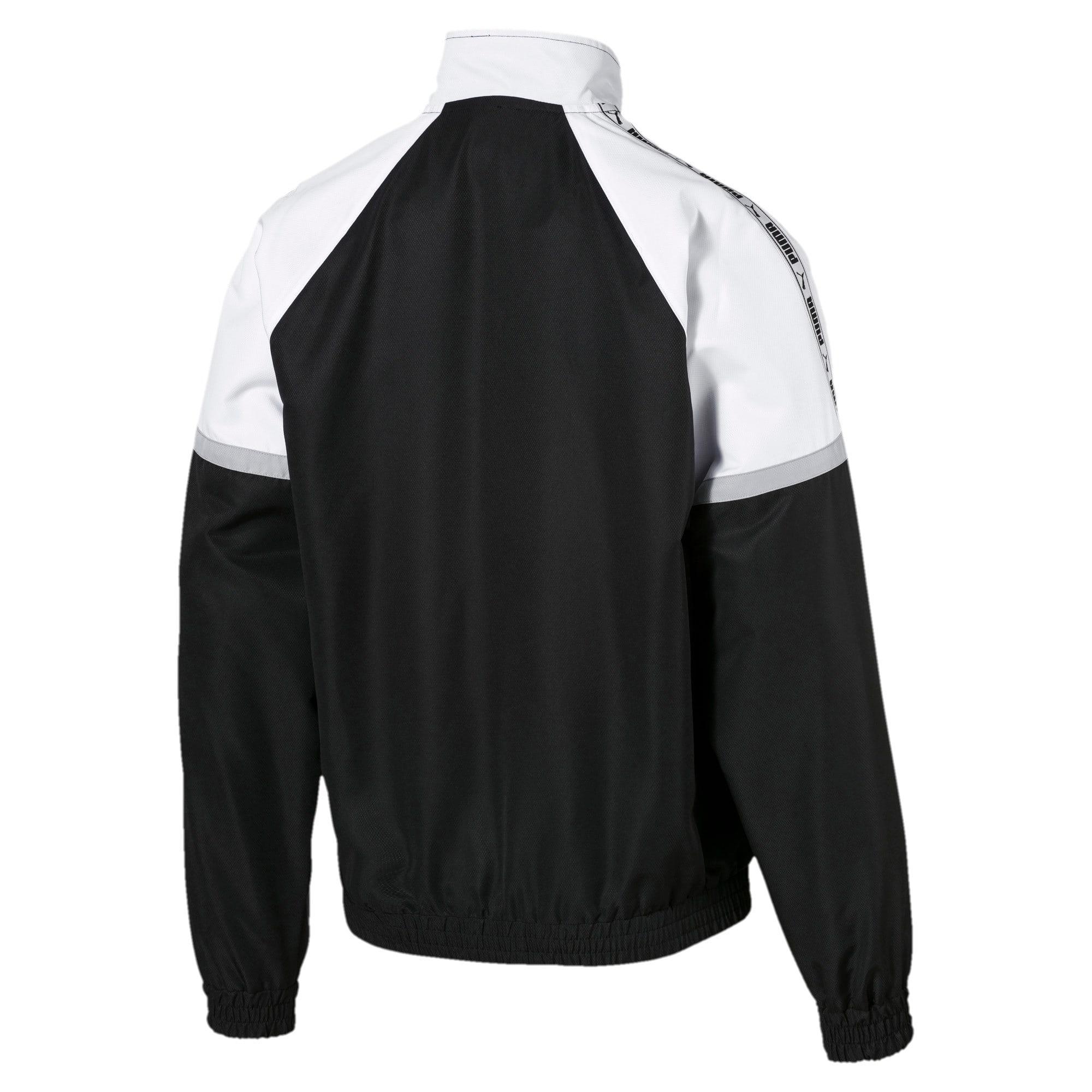 Thumbnail 6 of PUMA XTG Full Zip Men's Woven Jacket, Puma Black-Puma white, medium