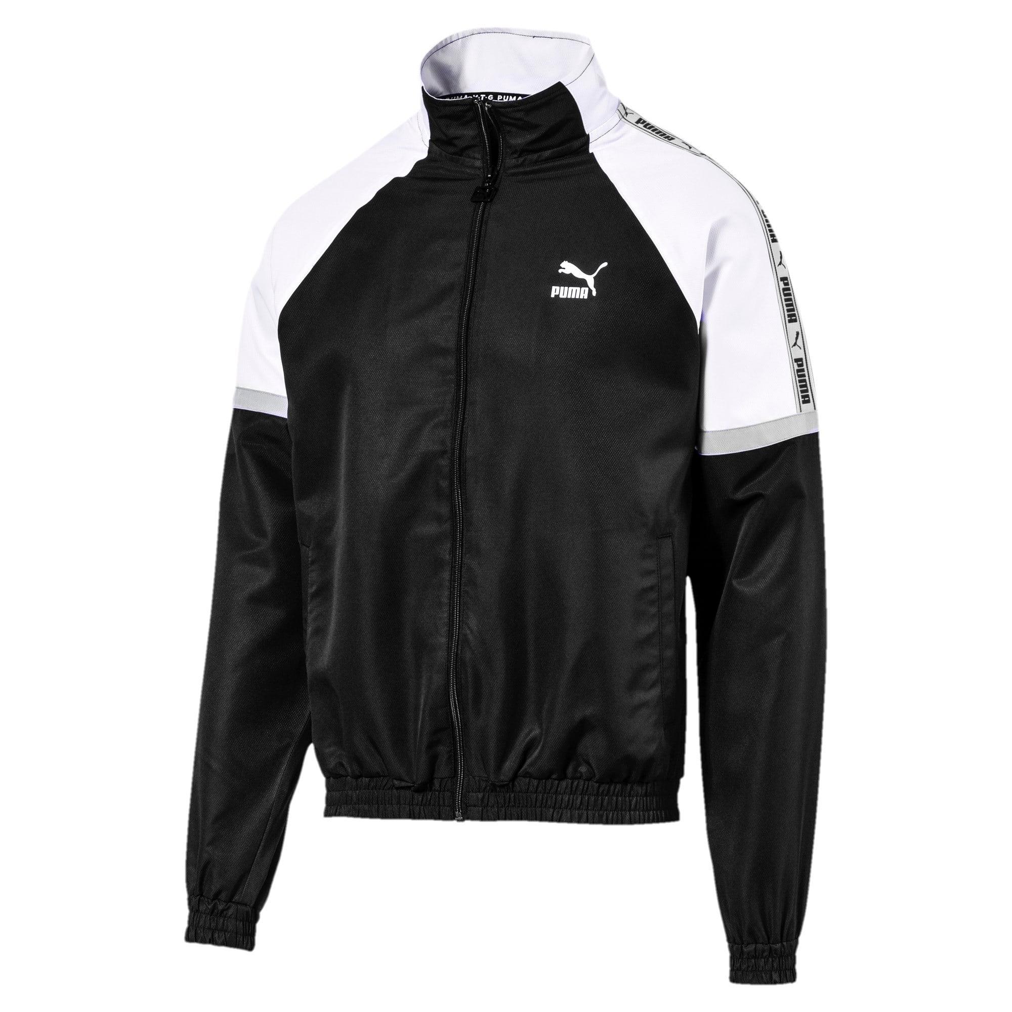 Thumbnail 5 of PUMA XTG Full Zip Men's Woven Jacket, Puma Black-Puma white, medium