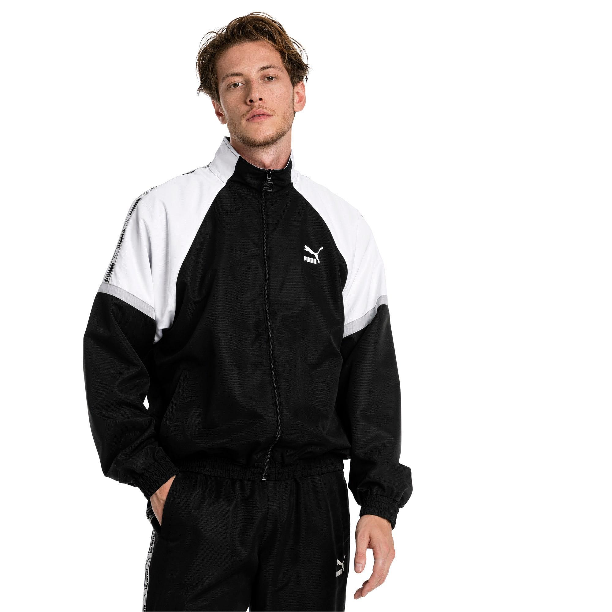Thumbnail 1 of PUMA XTG Full Zip Men's Woven Jacket, Puma Black-Puma white, medium