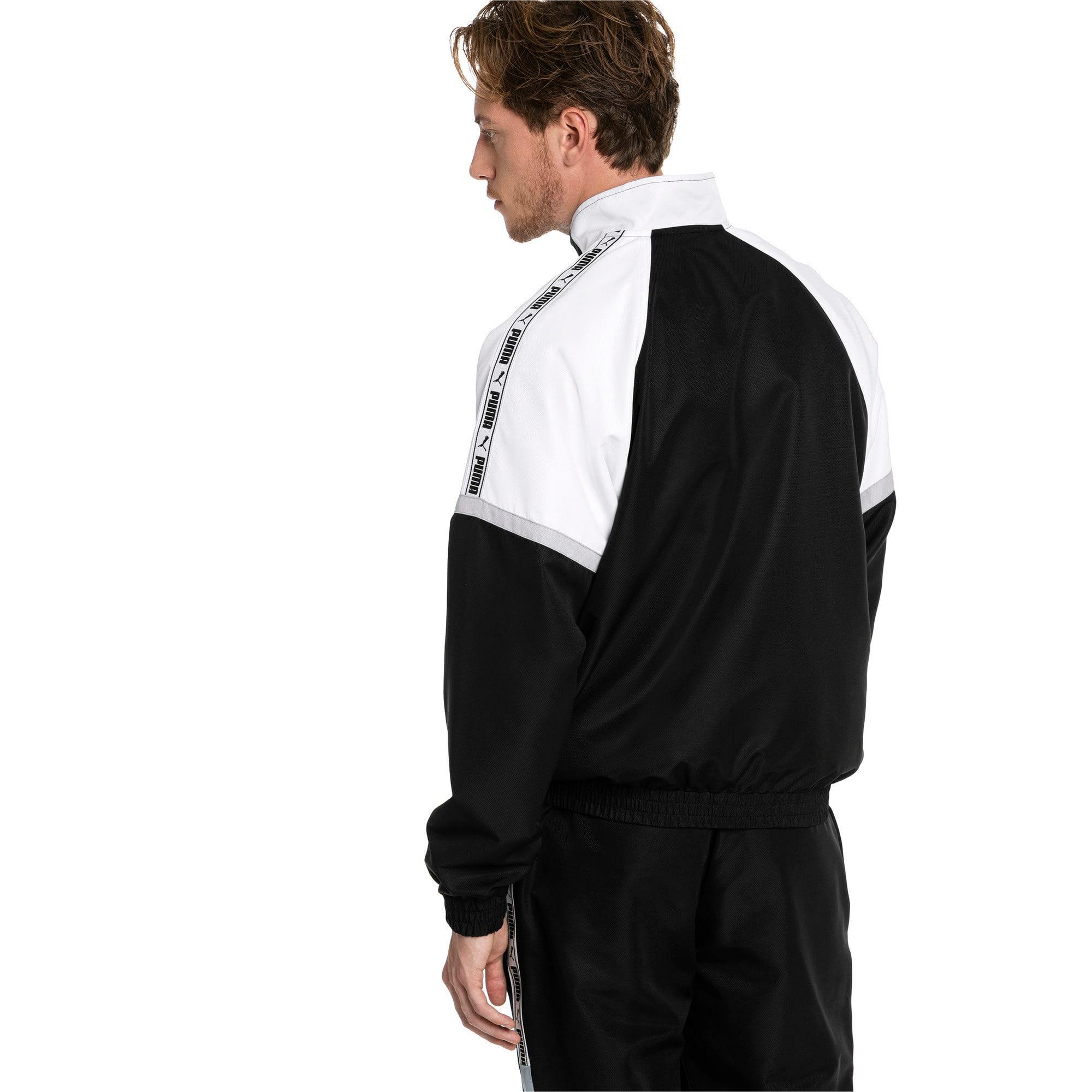 Thumbnail 2 of PUMA XTG Full Zip Men's Woven Jacket, Puma Black-Puma white, medium