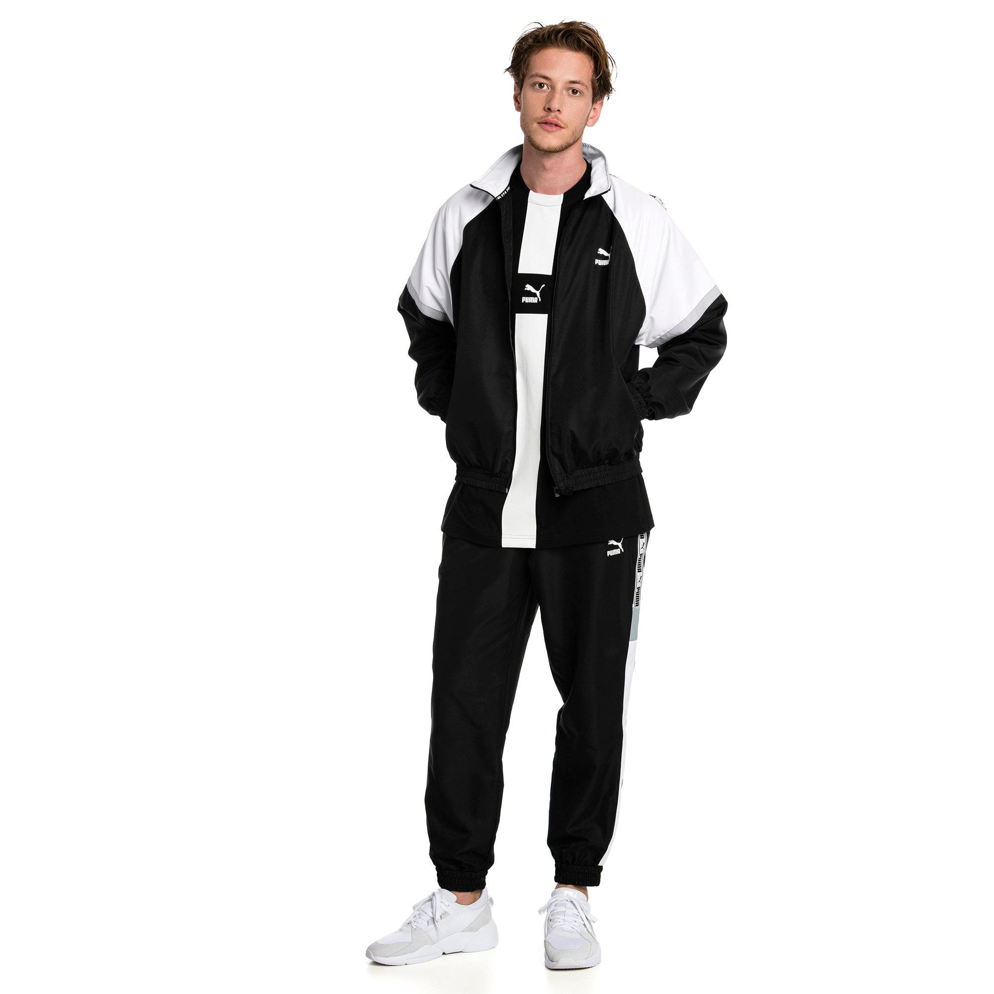 Thumbnail 3 of PUMA XTG Full Zip Men's Woven Jacket, Puma Black-Puma white, medium