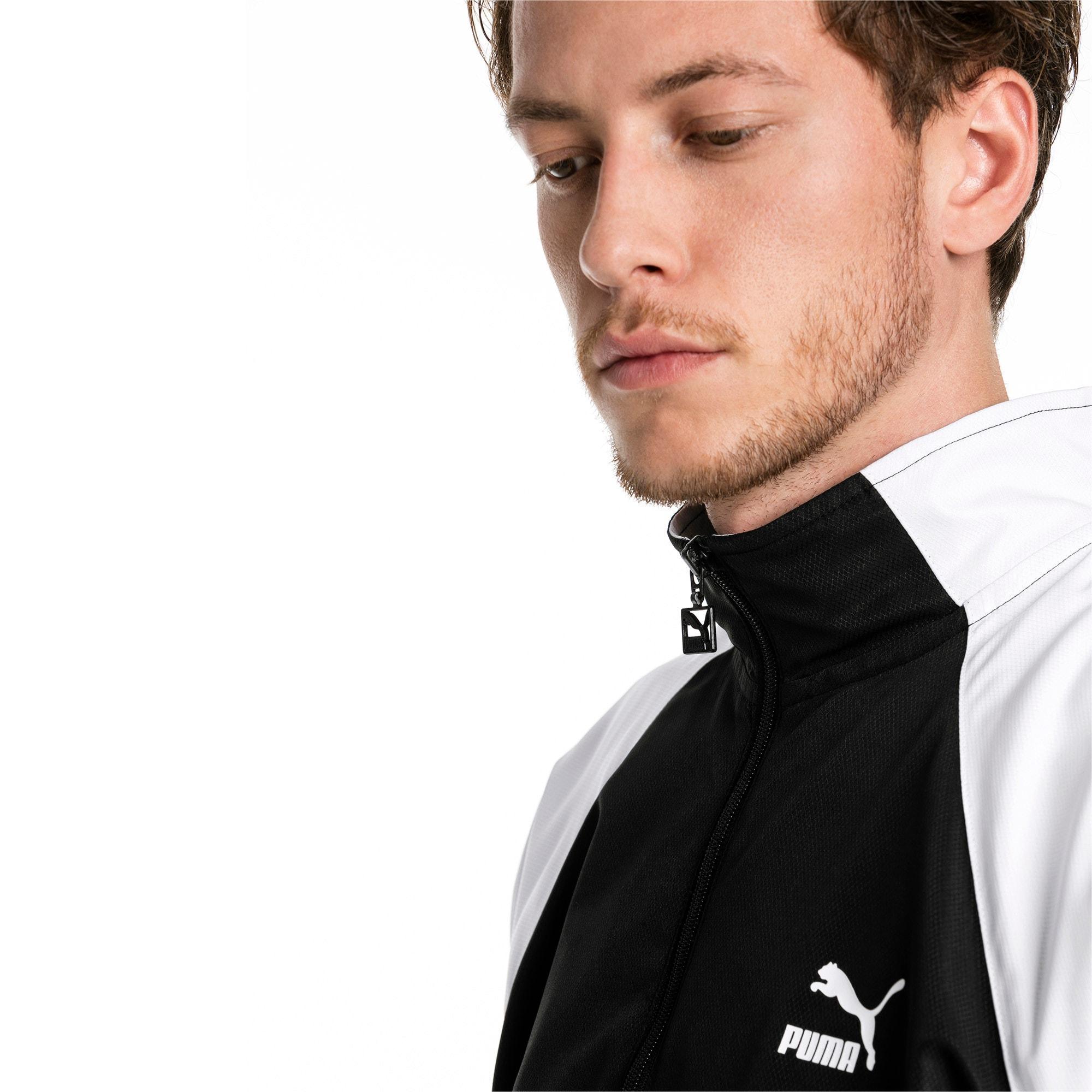 Thumbnail 4 of PUMA XTG Full Zip Men's Woven Jacket, Puma Black-Puma white, medium