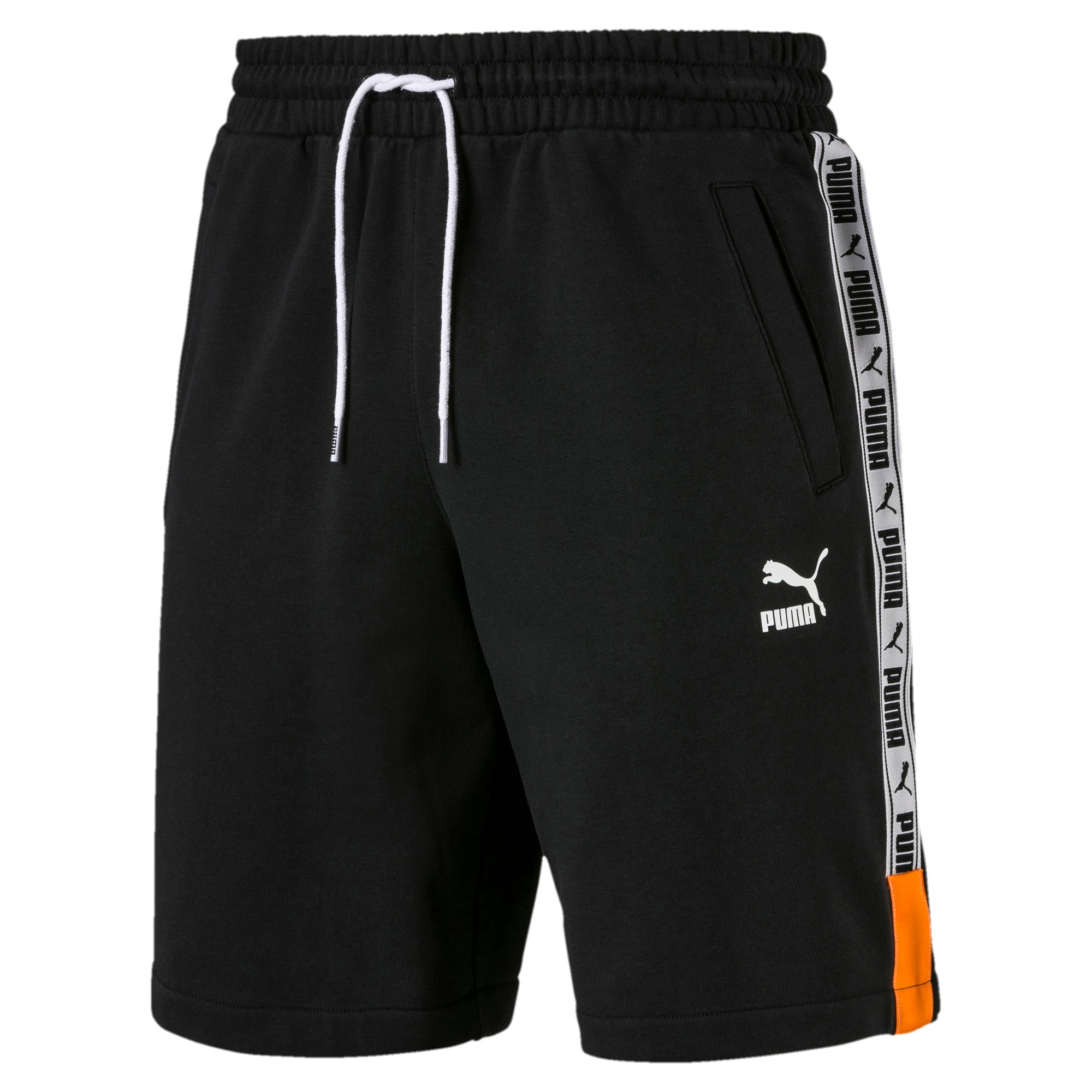 "XTG Knitted Men's 8"" Shorts, Cotton Black, large-IND"