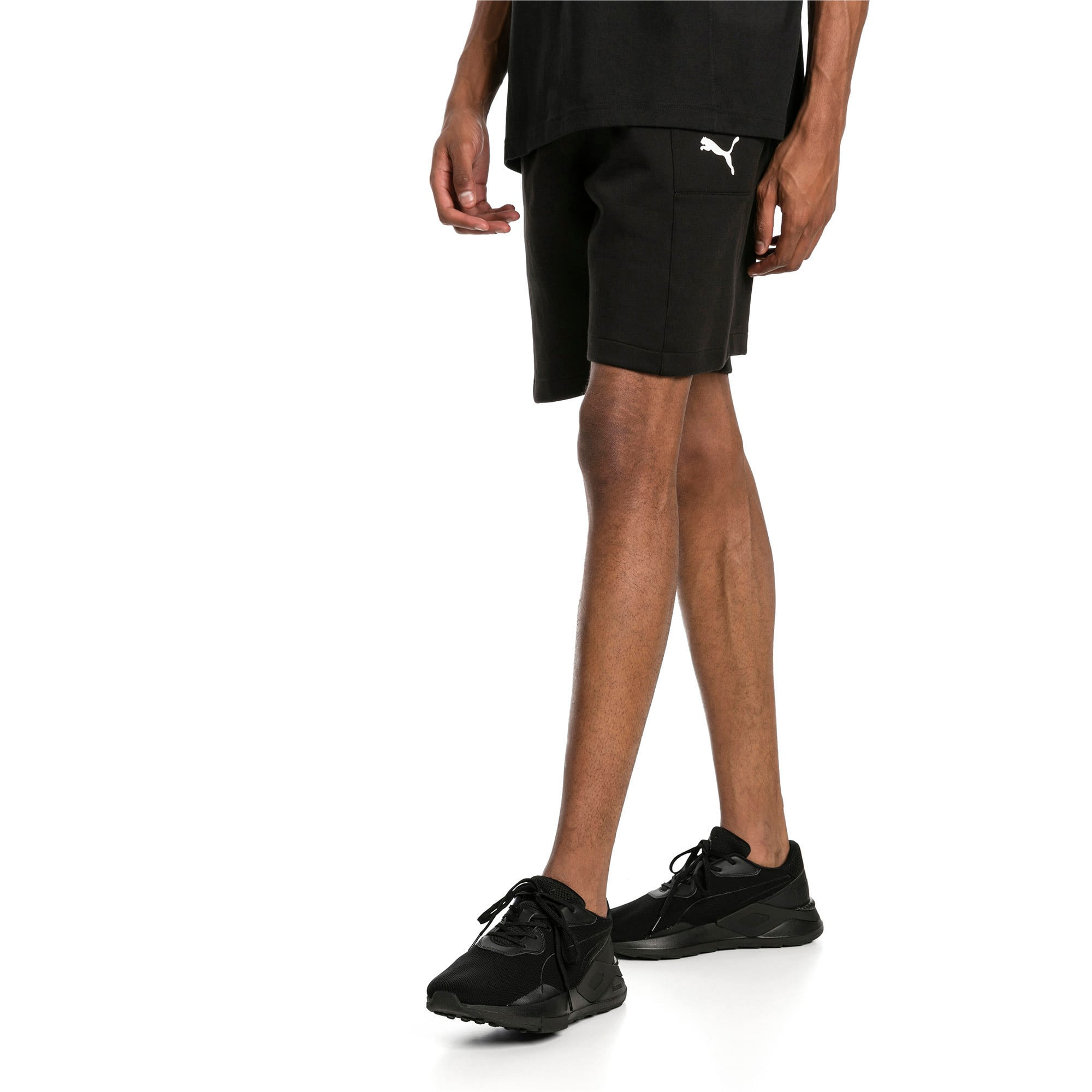 "Thumbnail 1 of Epoch Knitted Men's 8"" Shorts, Cotton Black, medium-IND"