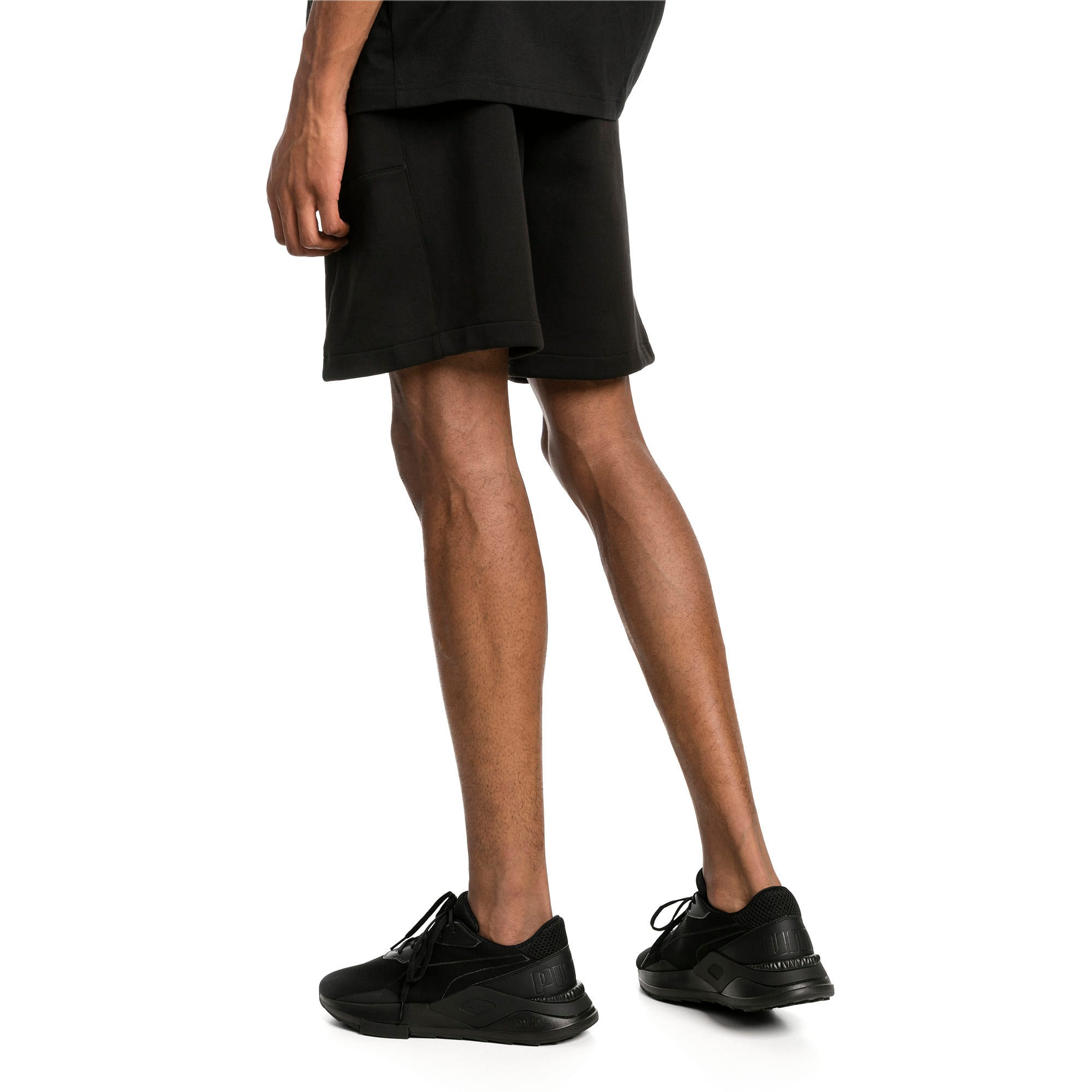 "Thumbnail 2 of Epoch Knitted Men's 8"" Shorts, Cotton Black, medium-IND"