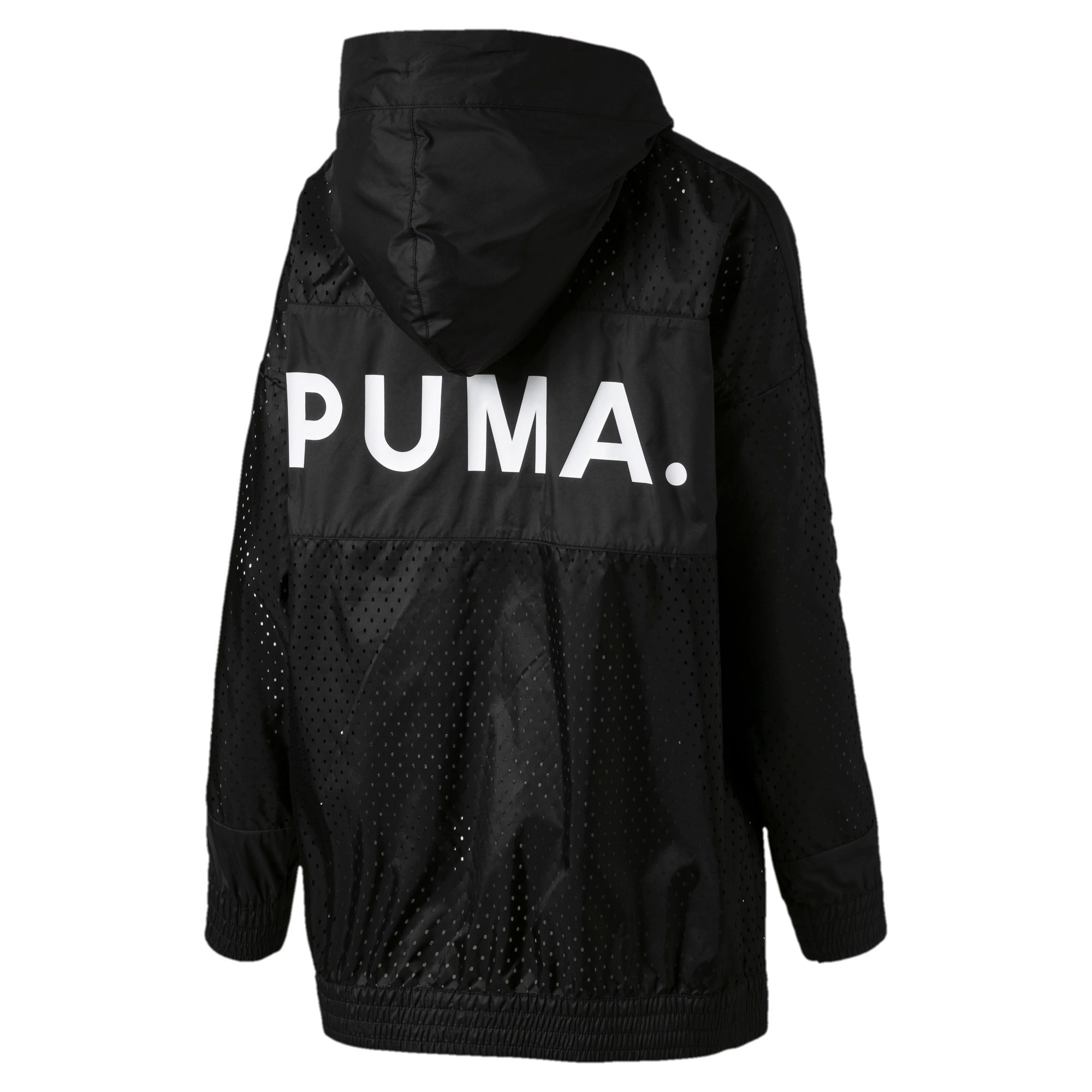 Thumbnail 5 of Chase Woven Full Zip Hooded Women's Jacket, Puma Black, medium-IND