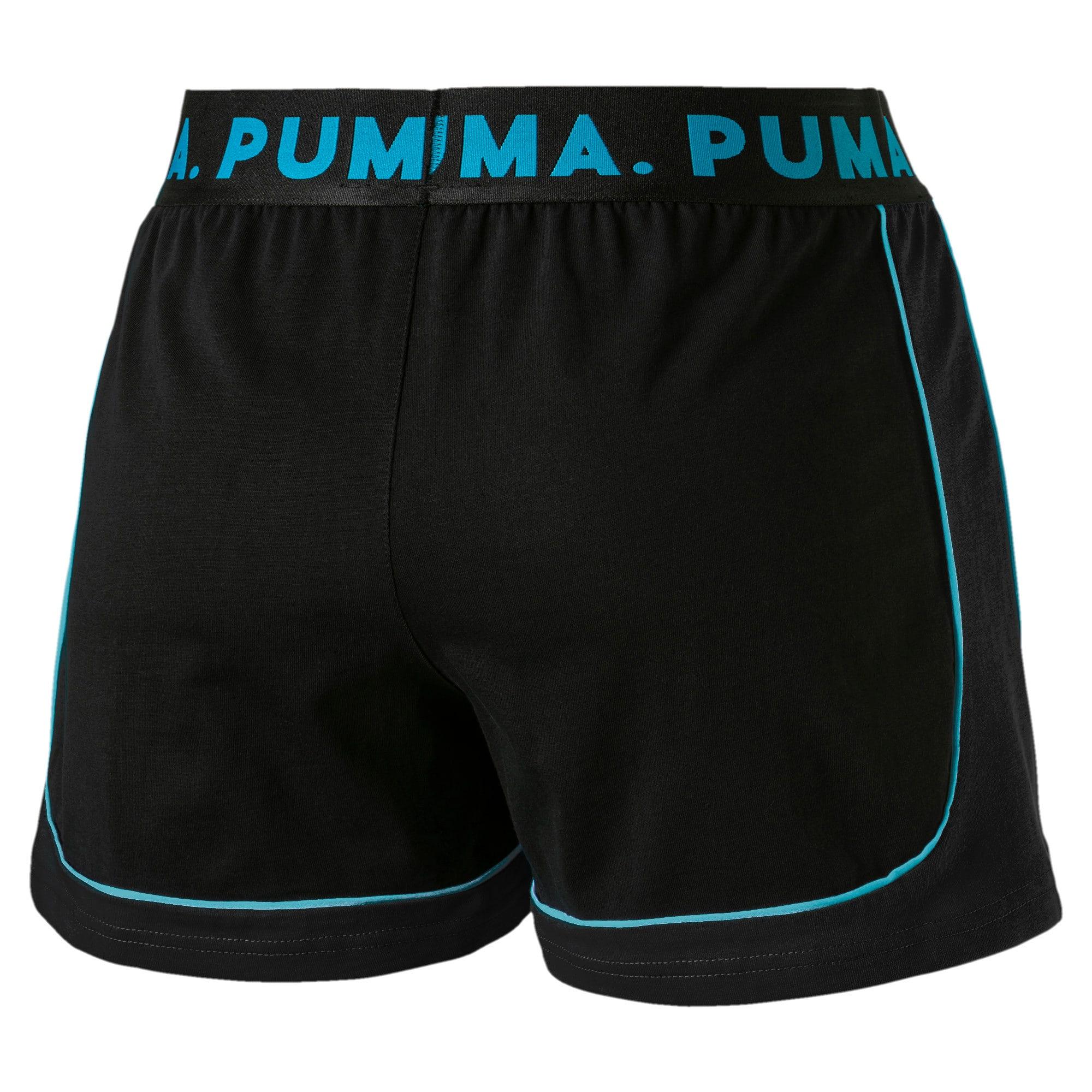 Miniatura 5 de Shorts Chase para mujer, Cotton Black-Caribbean Sea, mediano