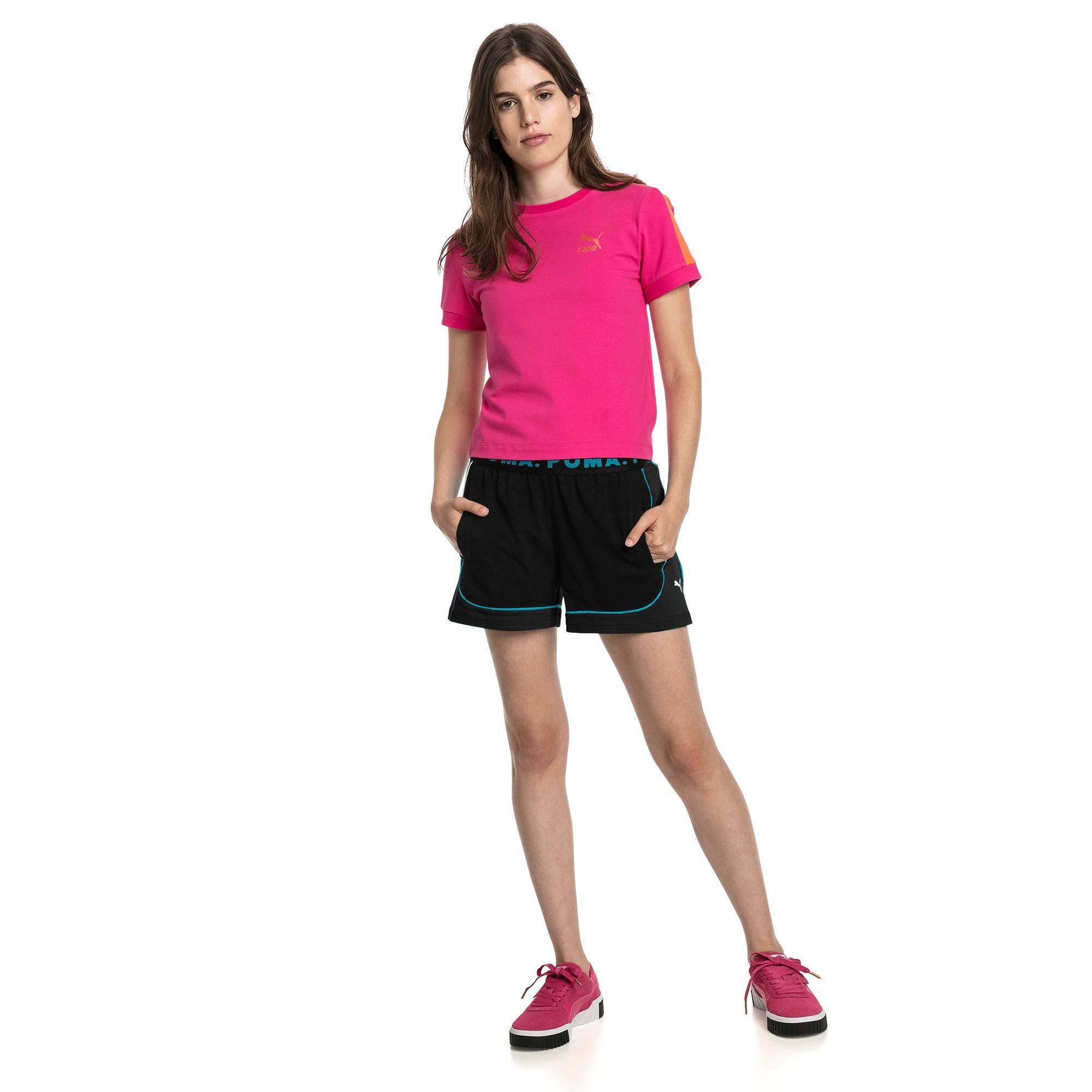 Miniatura 3 de Shorts Chase para mujer, Cotton Black-Caribbean Sea, mediano