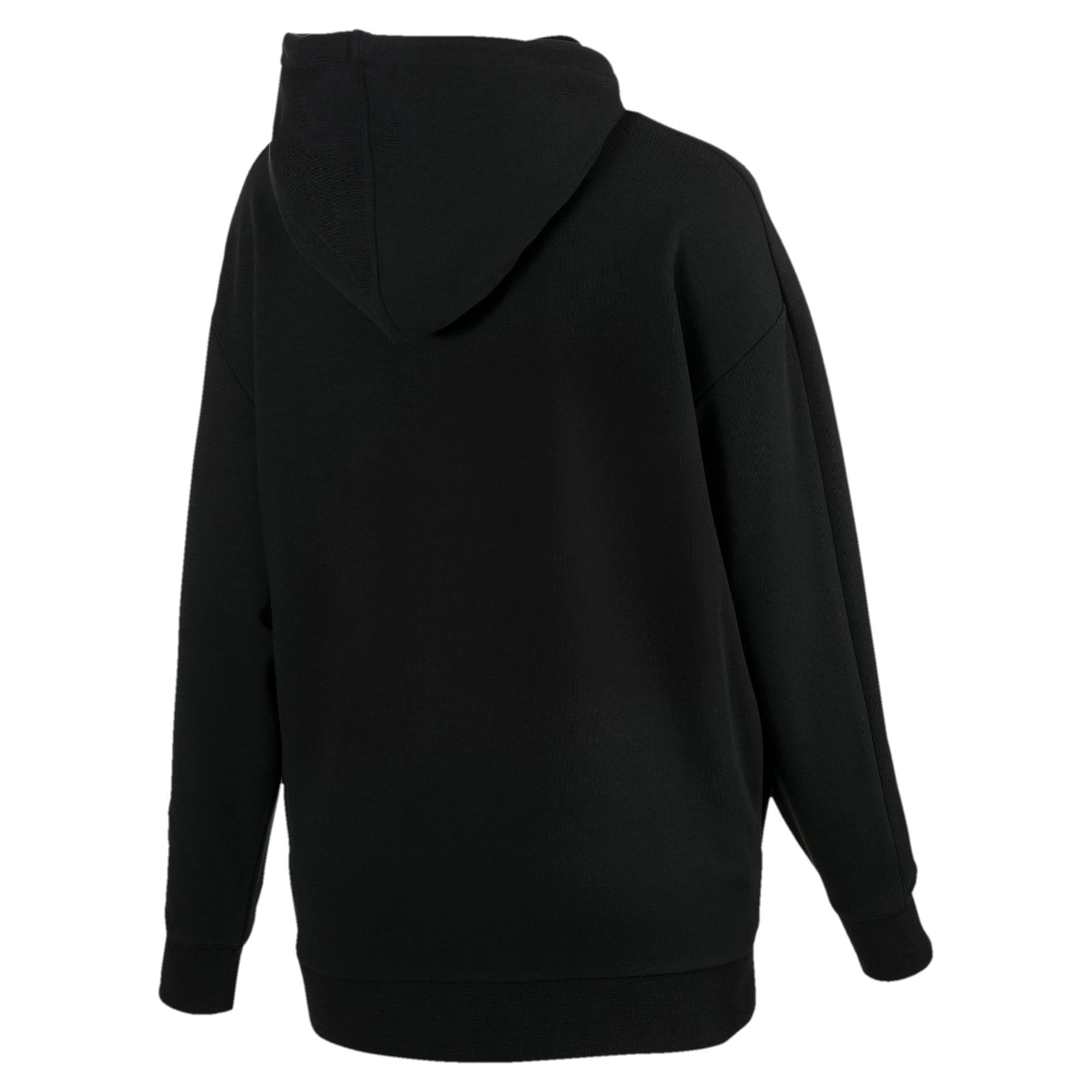 Thumbnail 4 van Classics Logo T7-hoodie voor vrouwen, Zwart katoen-metaal, medium