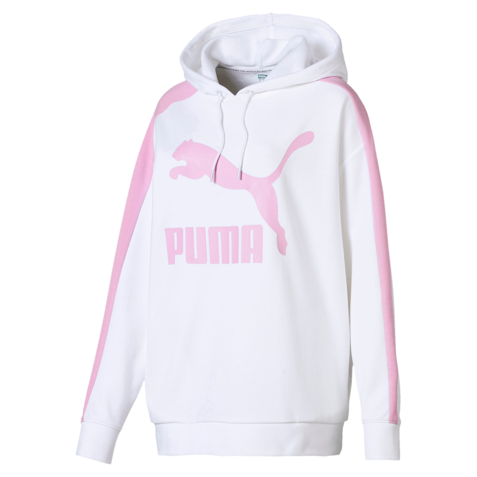 Thumbnail 1 van Classics Logo T7-hoodie voor vrouwen, Puma White, medium