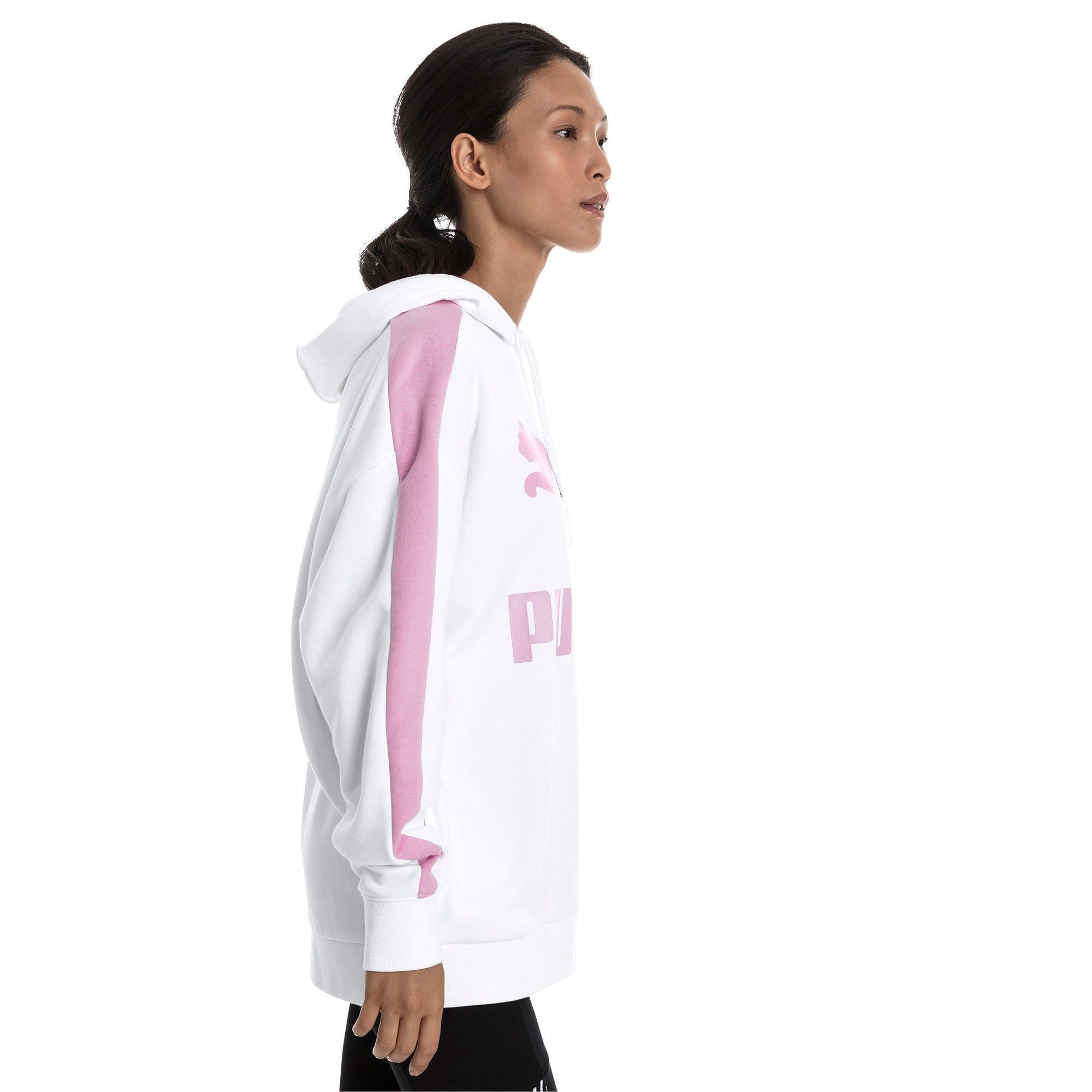 Thumbnail 2 van Classics Logo T7-hoodie voor vrouwen, Puma White, medium