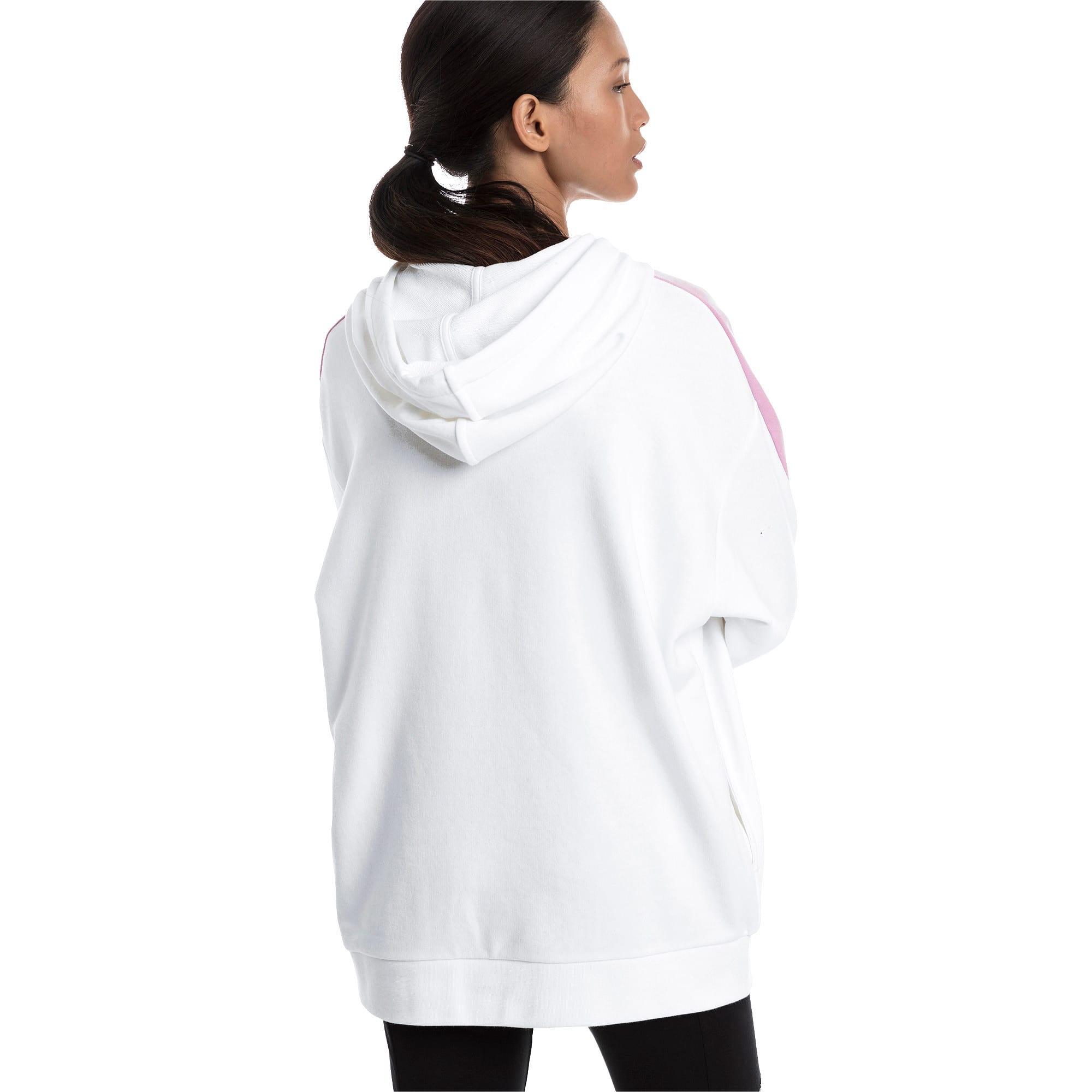 Thumbnail 3 van Classics Logo T7-hoodie voor vrouwen, Puma White, medium