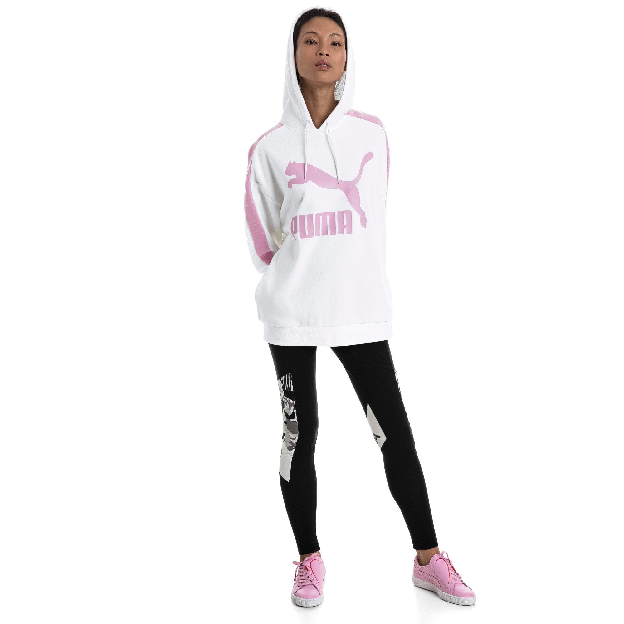 Thumbnail 5 van Classics Logo T7-hoodie voor vrouwen, Puma White, medium