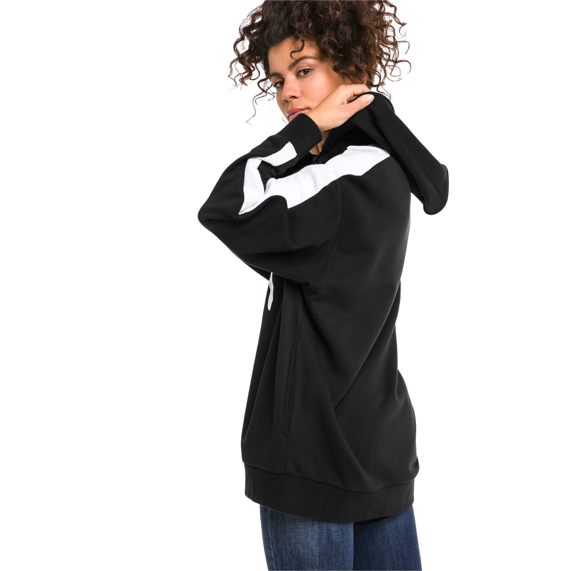 Thumbnail 2 of Classics Logo T7 Women's Hoodie, Cotton Black, medium