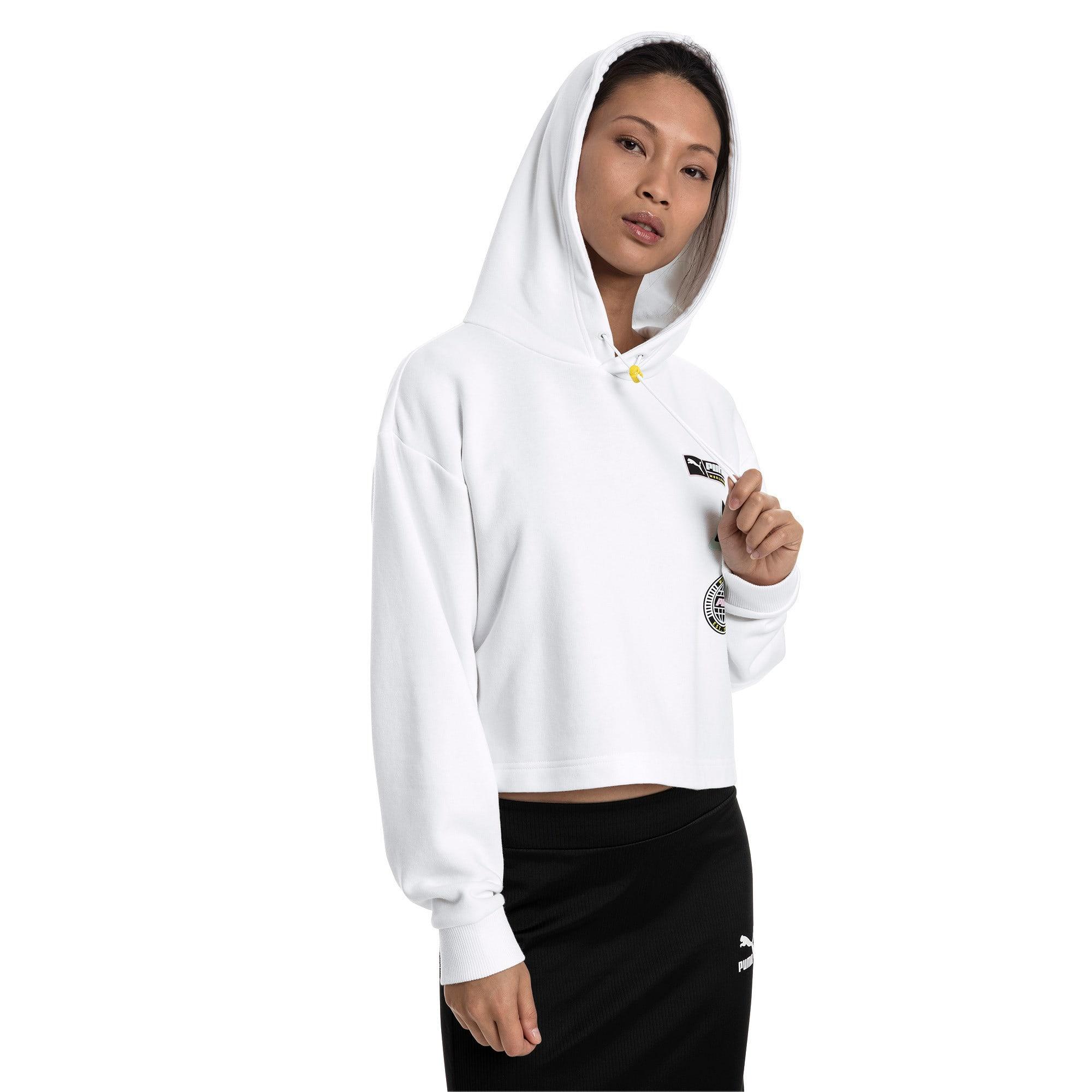 Thumbnail 1 van Trailblazer hoodie voor vrouwen, Puma White, medium