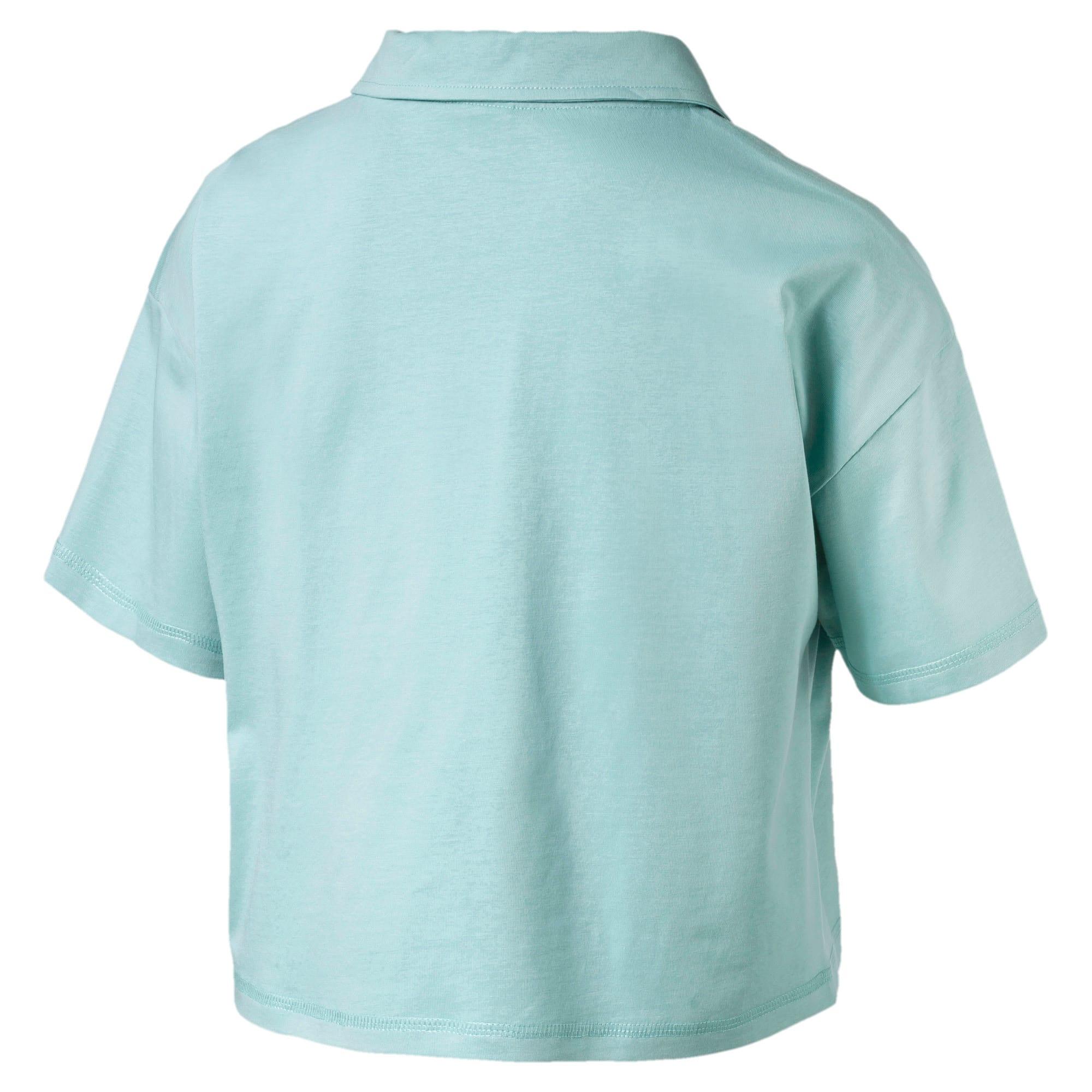 Thumbnail 4 of Downtown Women's Polo Shirt, Aquifer, medium-IND