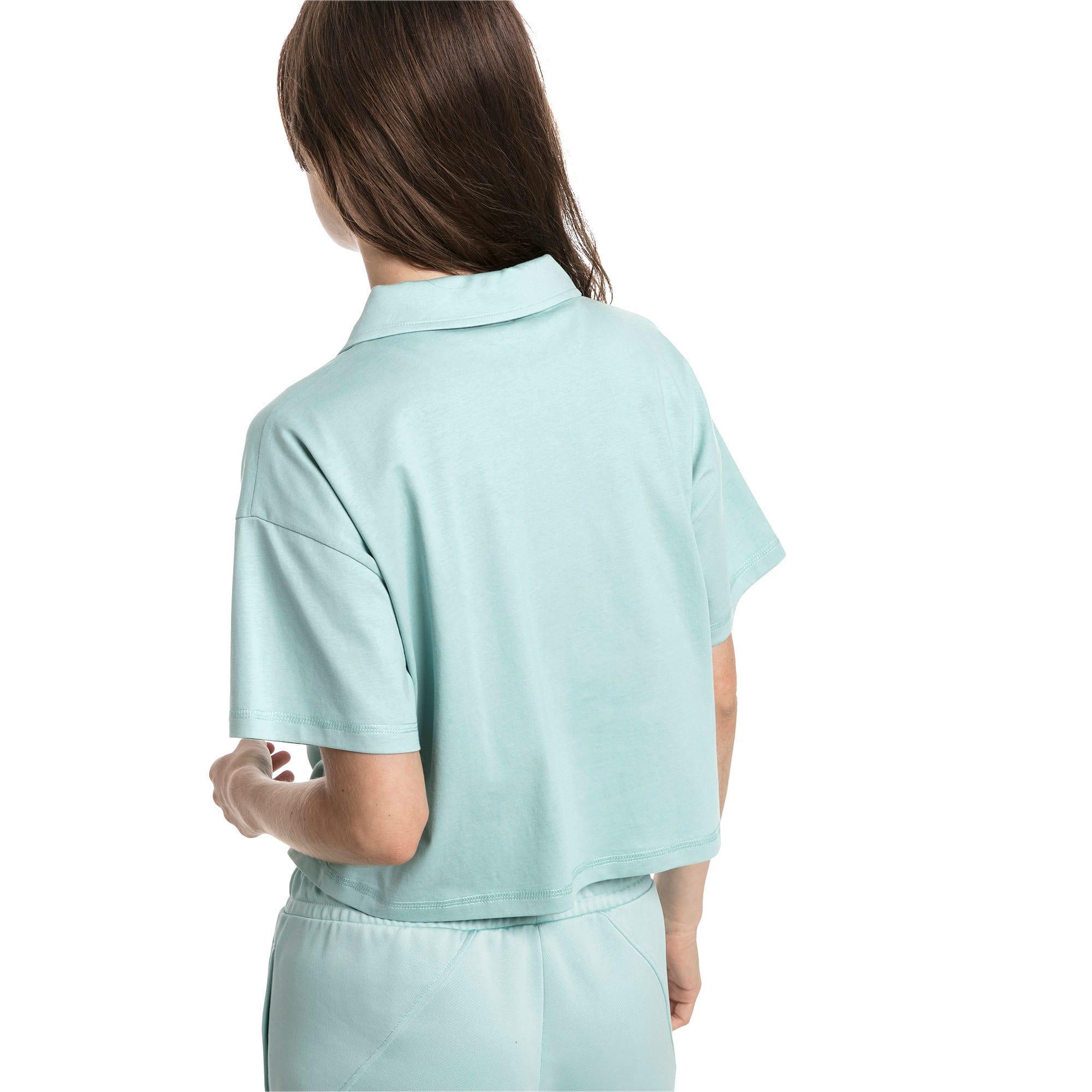 Thumbnail 2 of Downtown Women's Polo Shirt, Aquifer, medium-IND