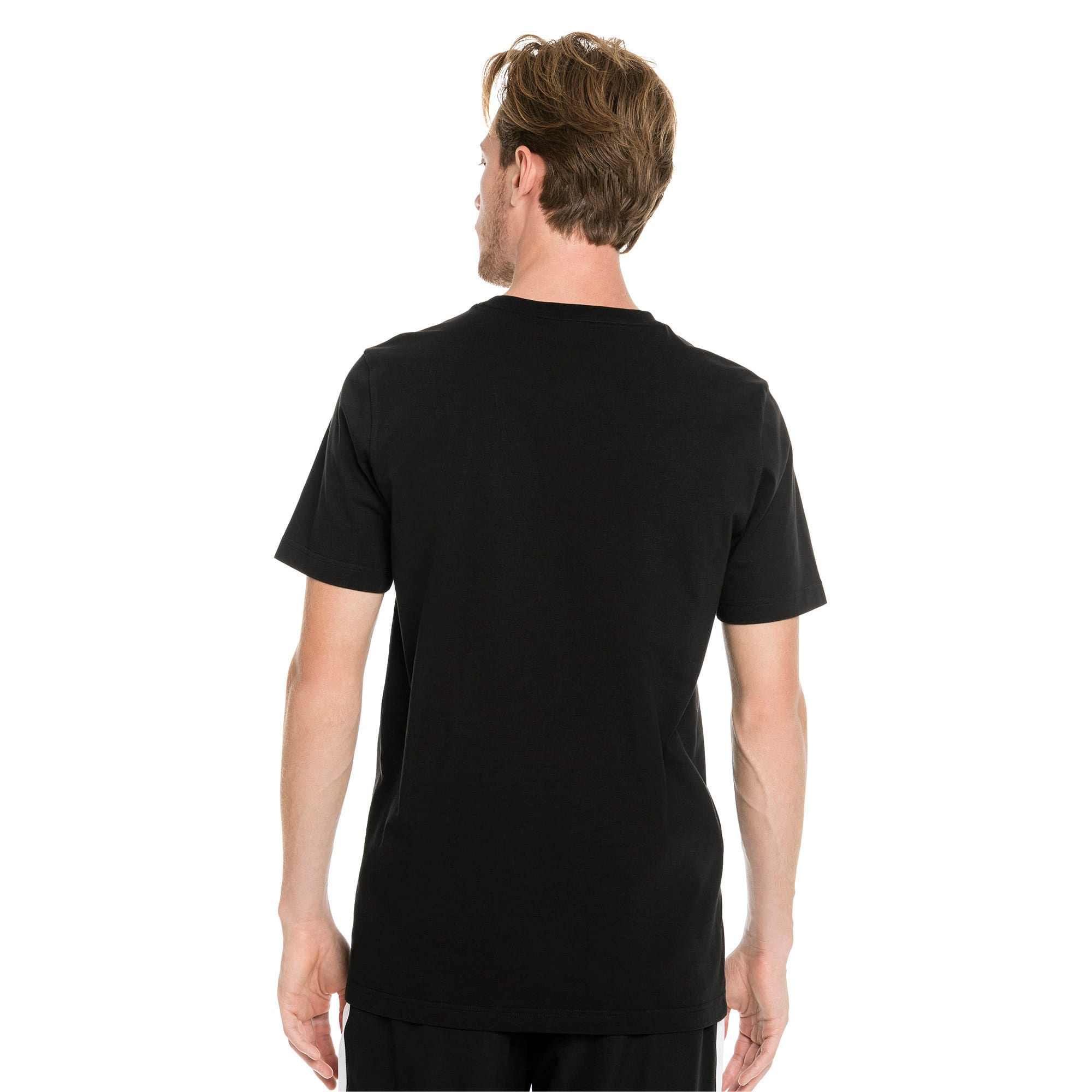 Classics Logo Short Sleeve Men's Tee, Cotton Black, large-IND