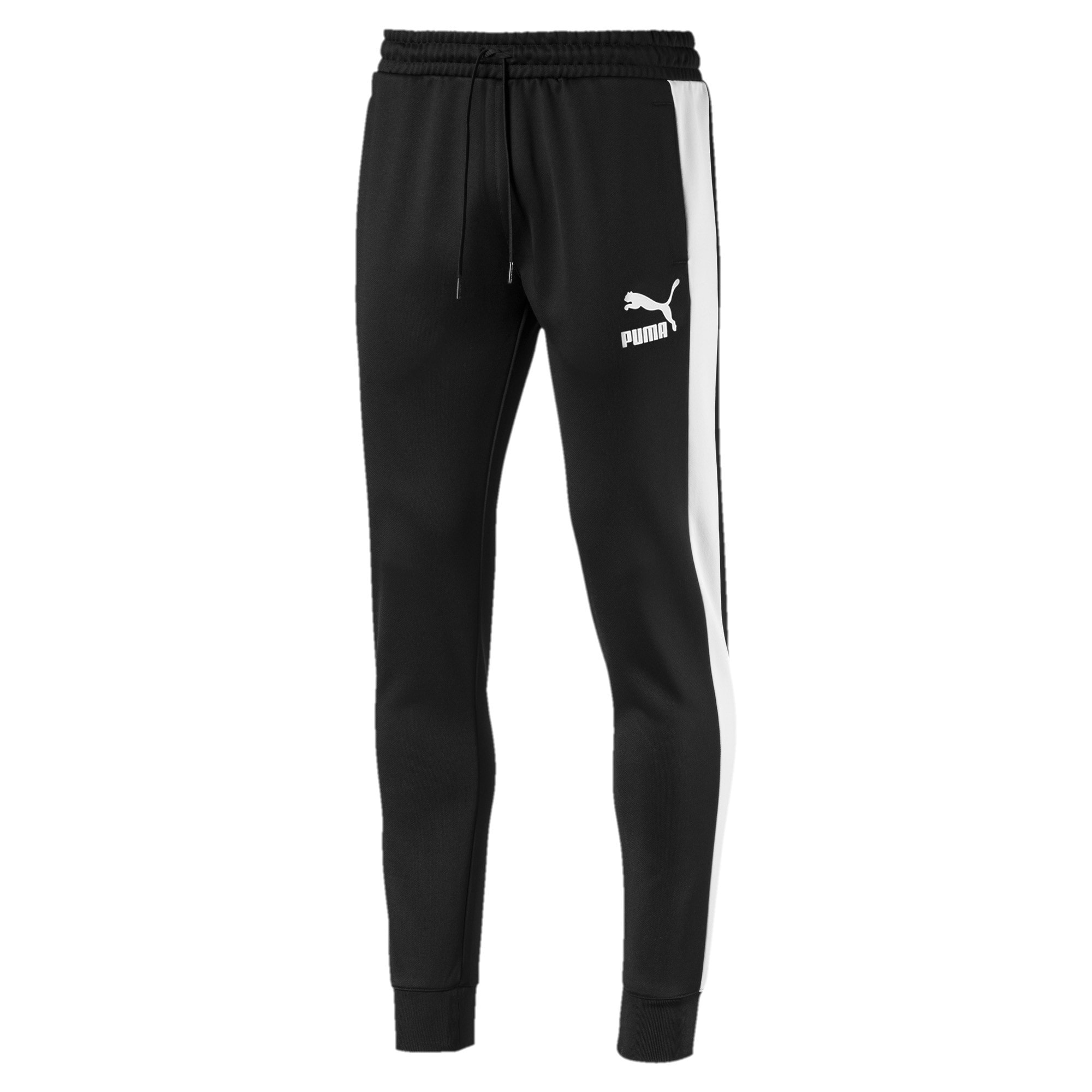 Thumbnail 4 of Iconic T7 Kntted Men's Sweatpants, Puma Black, medium-IND