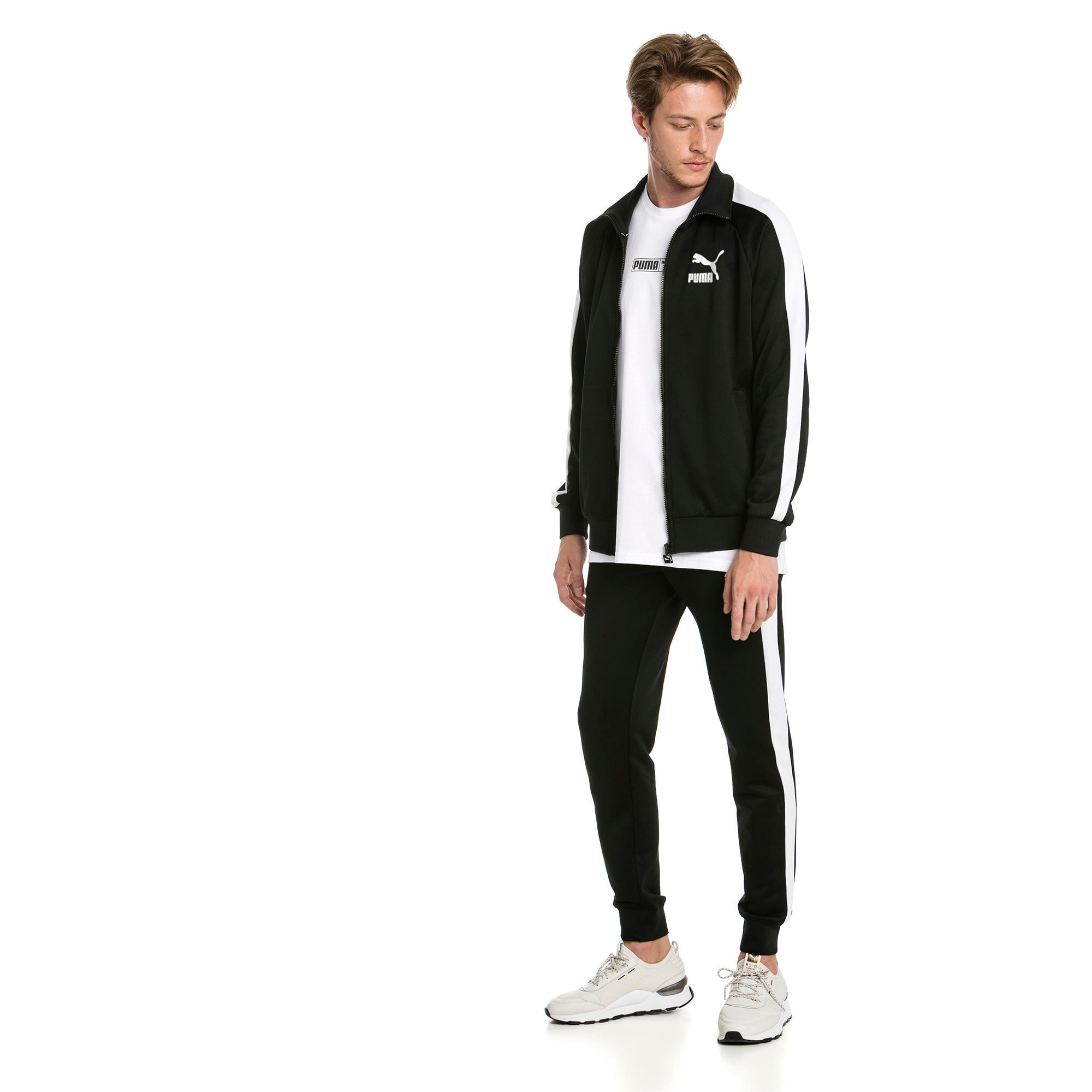 Thumbnail 3 of Iconic T7 Herren Gestrickte Sweatpants, Puma Black, medium