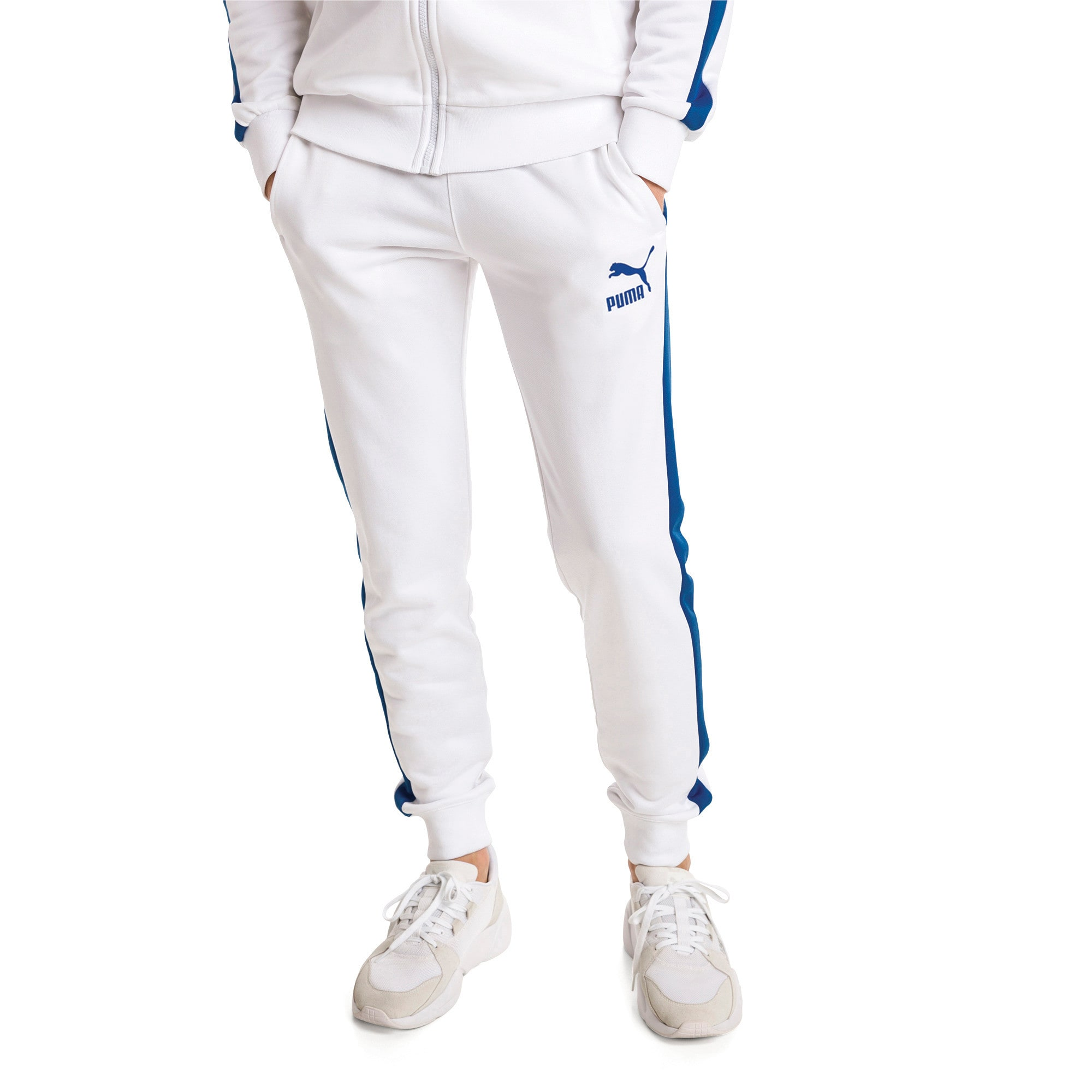 Thumbnail 2 of Iconic T7 Herren Gestrickte Sweatpants, Puma White, medium