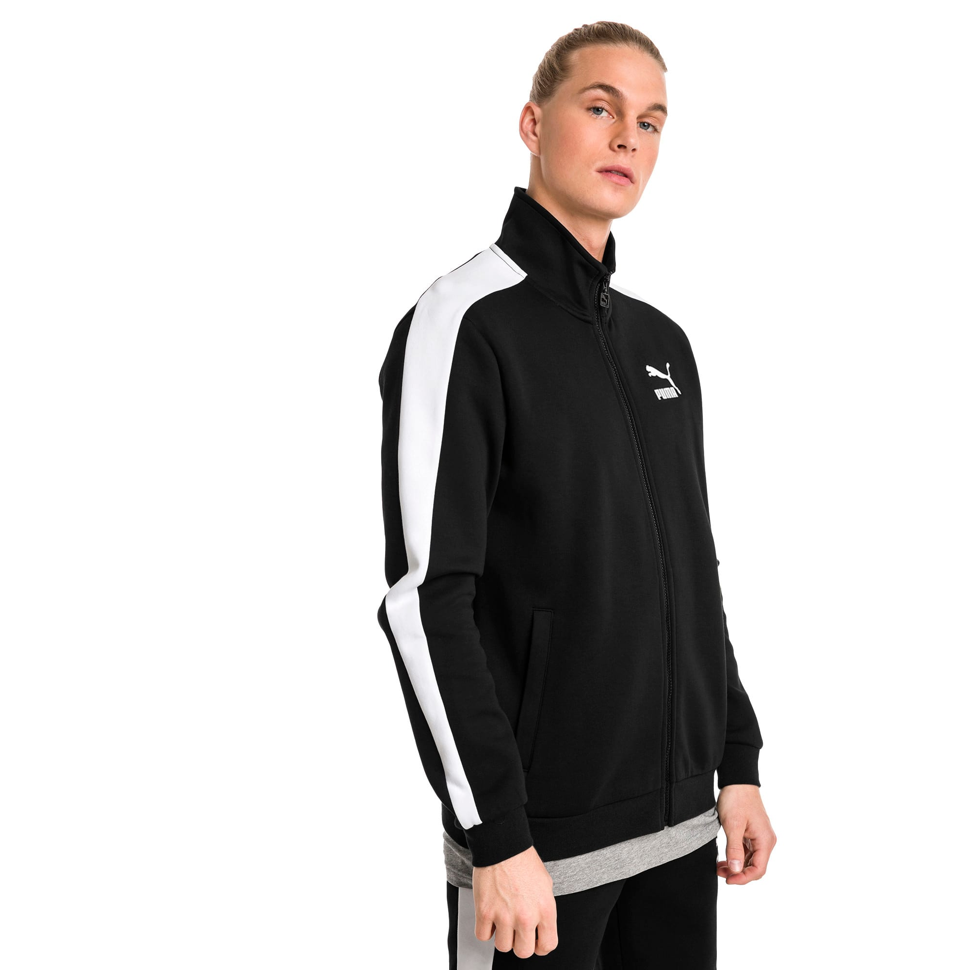 Thumbnail 2 of Archive Iconic T7 Double Knit Men's Track Jacket, Cotton Black, medium