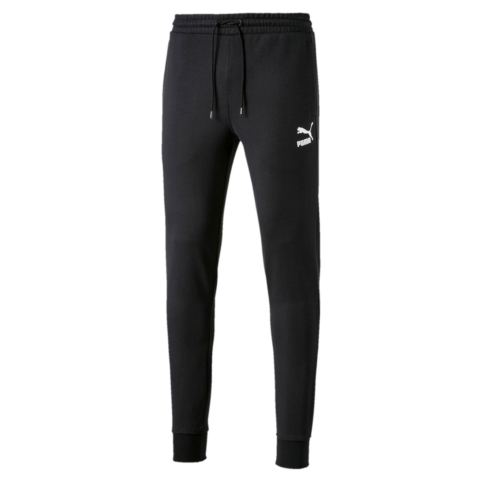 Thumbnail 2 of Classics Men's Cuffed Sweatpants, Cotton Black, medium