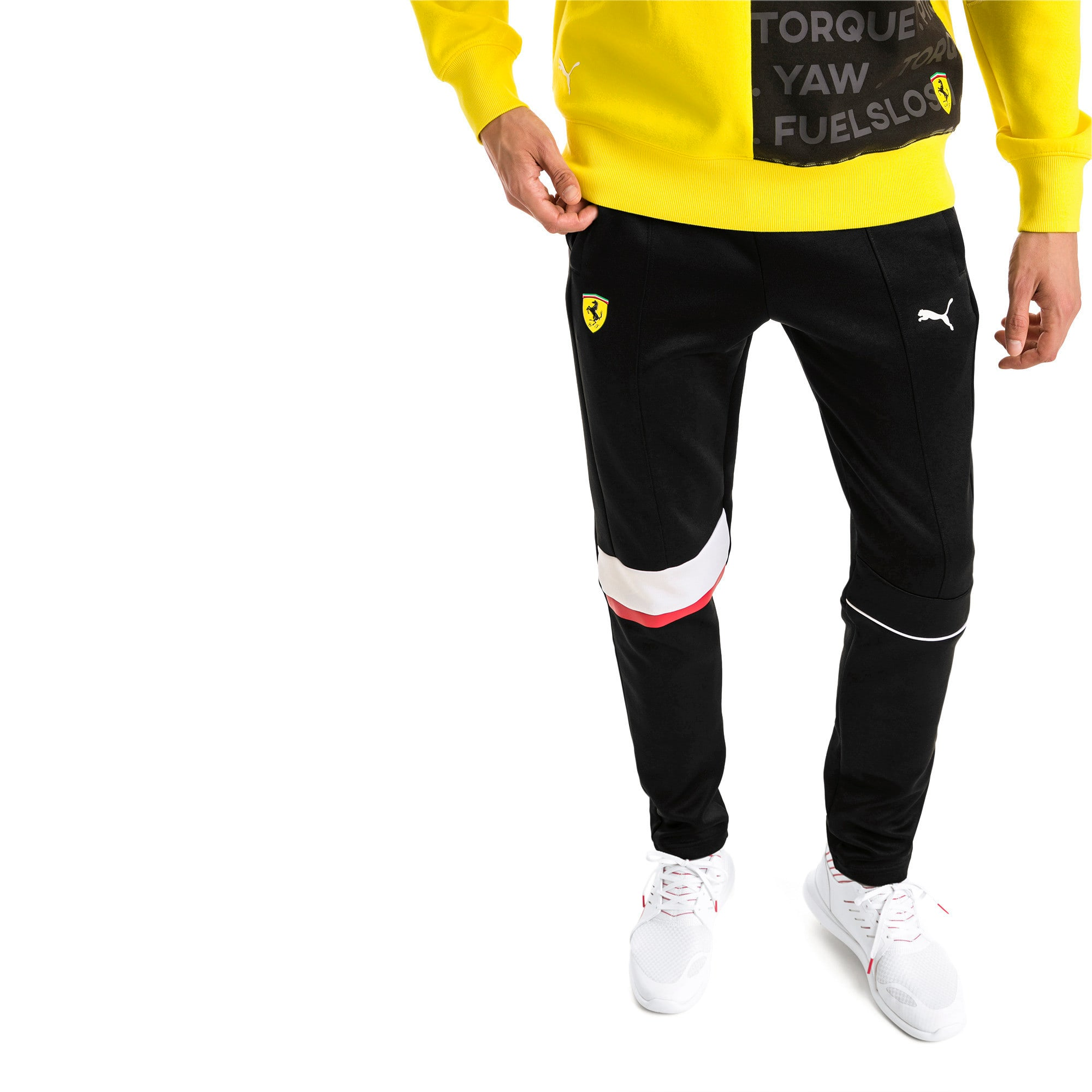 Thumbnail 1 van Ferrari T7 sweatpants voor heren, Puma Black, medium