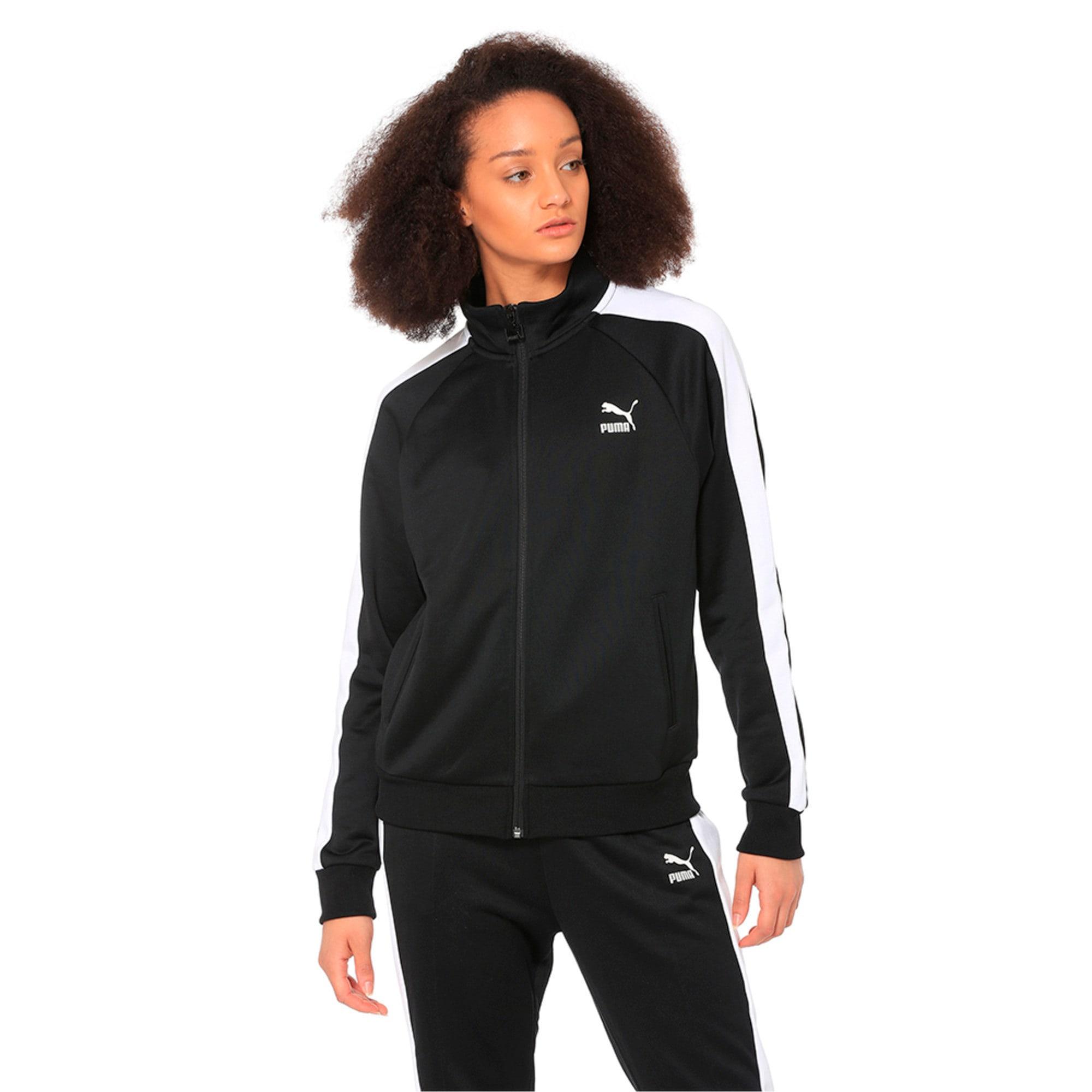 Thumbnail 1 of Classics T7 PT Women's Track Jacket, Puma Black-1, medium-IND