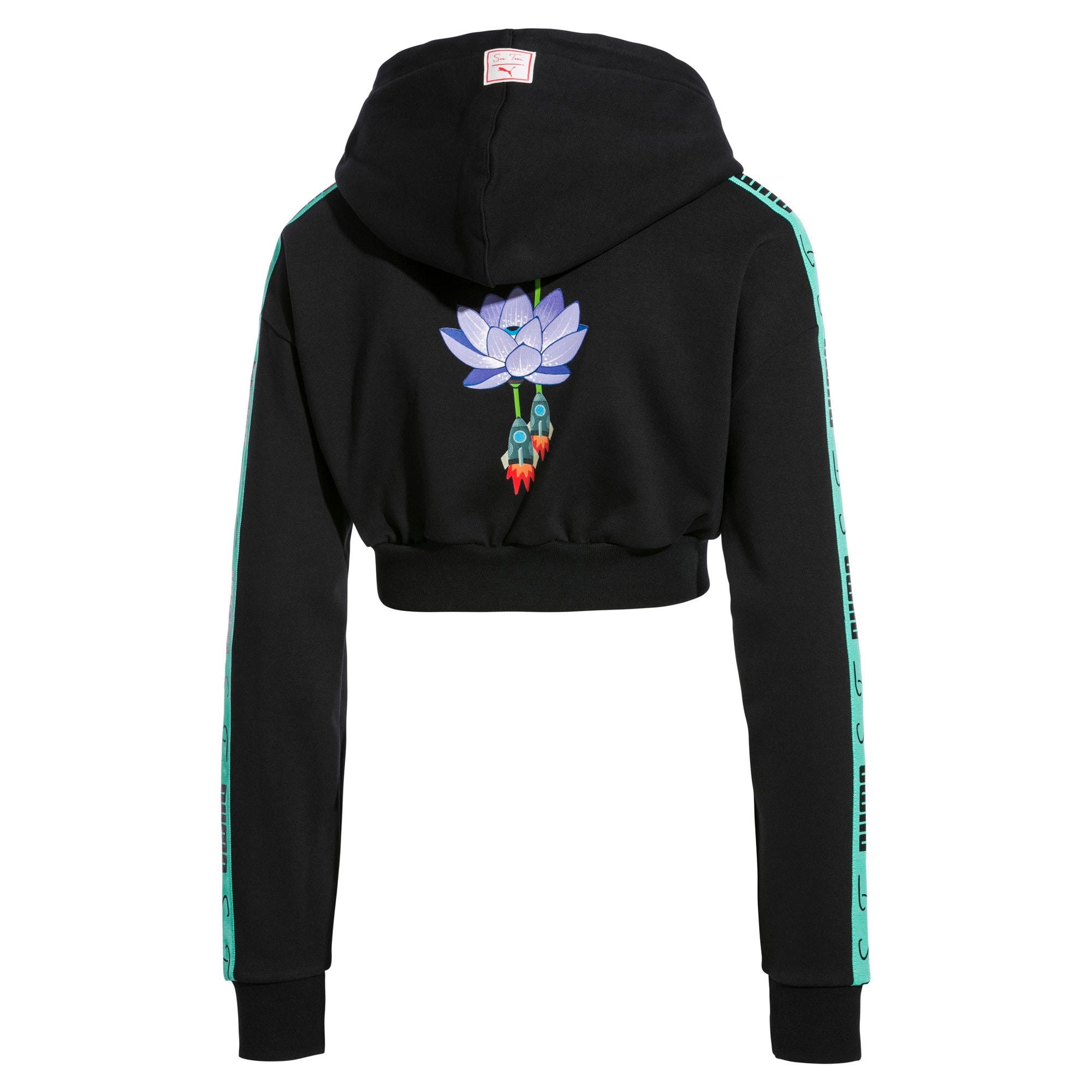 Thumbnail 4 van Cropped PUMA x SUE TSAI hoodie voor dames, Puma Black, medium