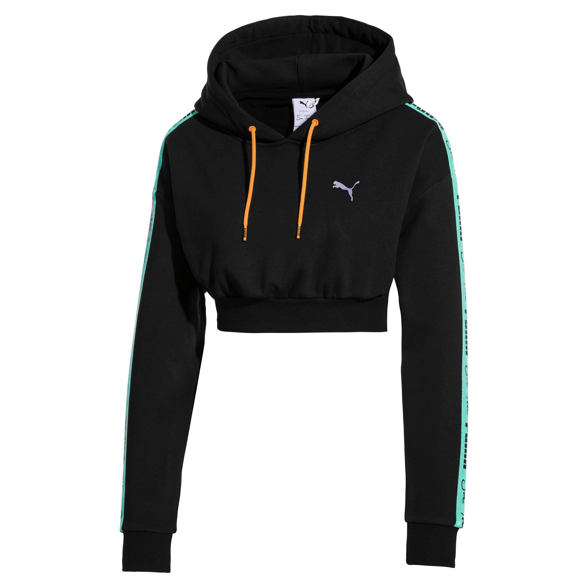 Thumbnail 1 van Cropped PUMA x SUE TSAI hoodie voor dames, Puma Black, medium