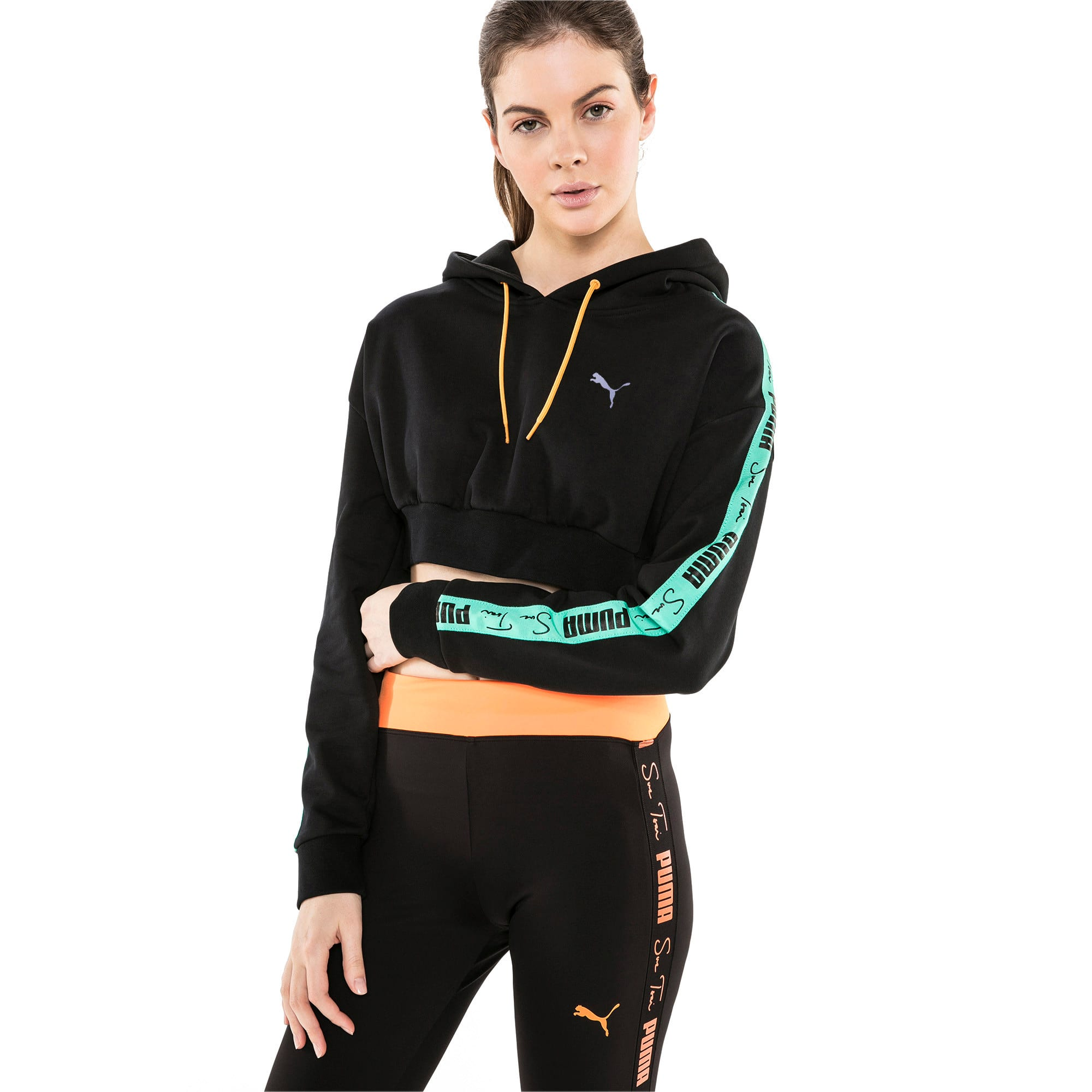 Thumbnail 2 van Cropped PUMA x SUE TSAI hoodie voor dames, Puma Black, medium