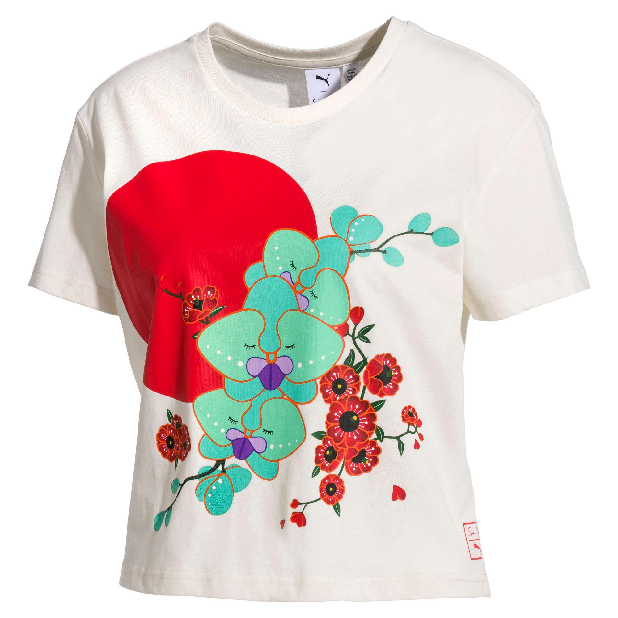 Thumbnail 1 van PUMA x SUE TSAI T-shirt voor dames, Whisper White, medium