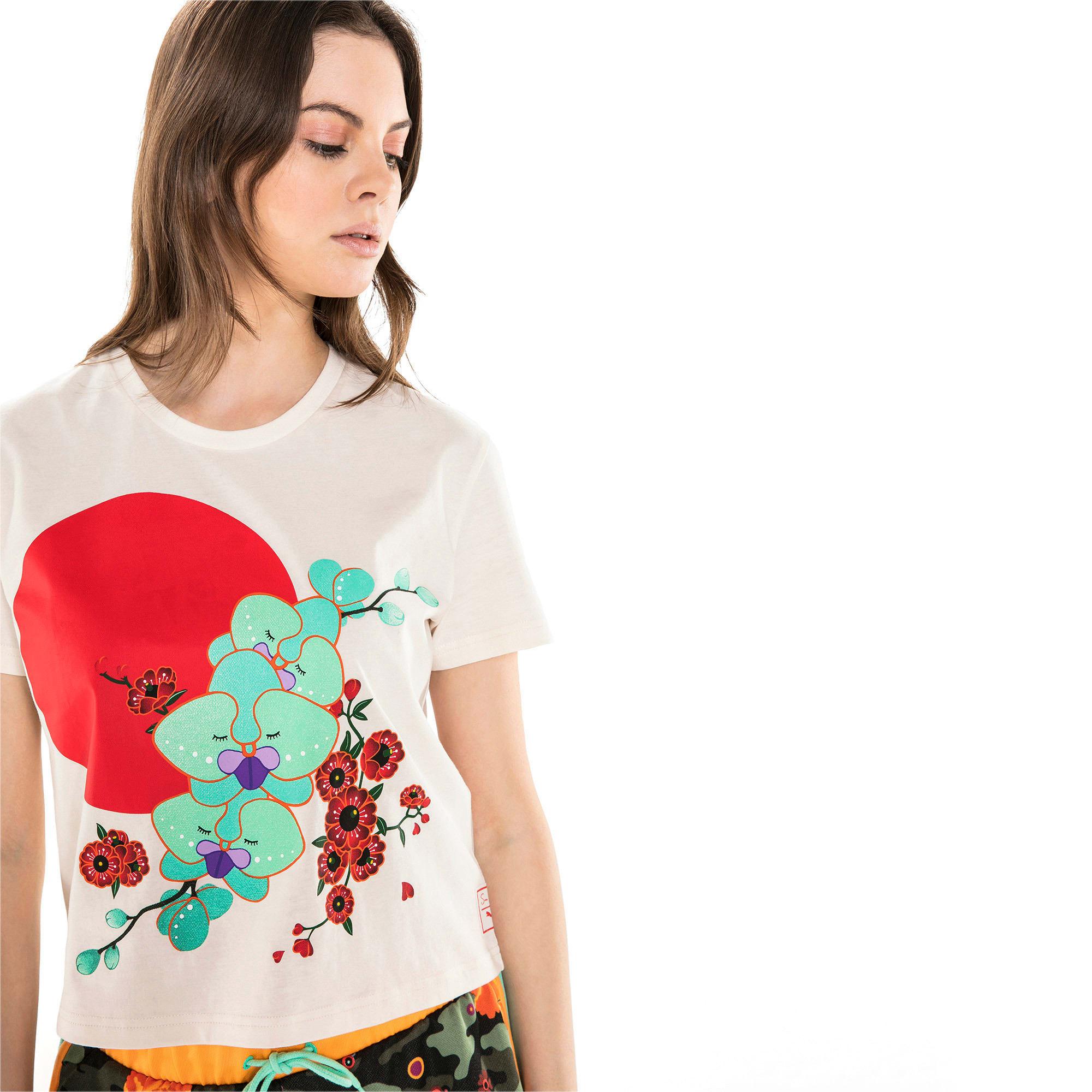Thumbnail 2 van PUMA x SUE TSAI T-shirt voor dames, Whisper White, medium