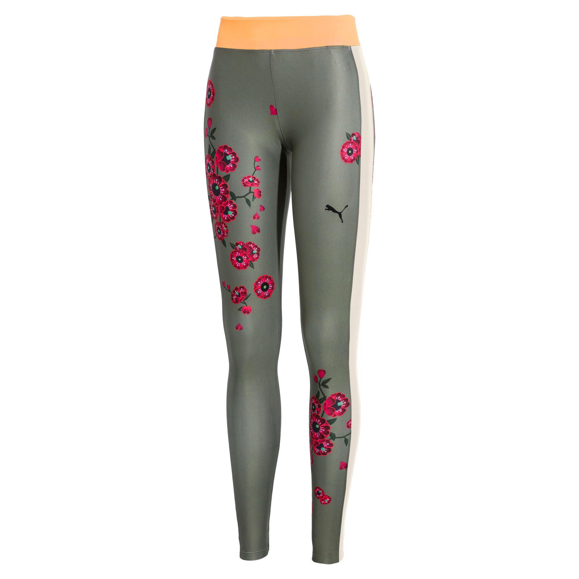 Thumbnail 1 van PUMA x SUE TSAI Blossom legging voor vrouwen, -Olivine, medium