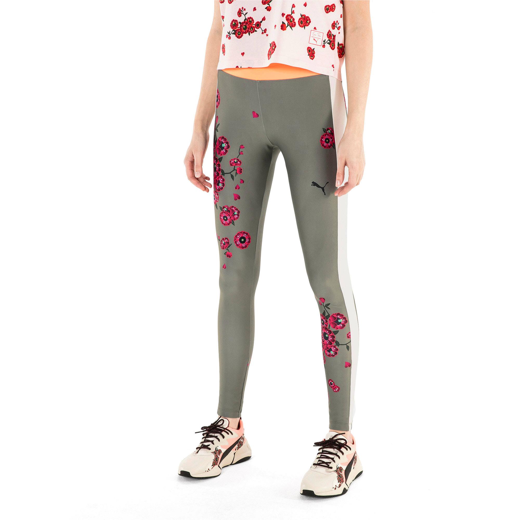 Thumbnail 2 van PUMA x SUE TSAI Blossom legging voor vrouwen, -Olivine, medium