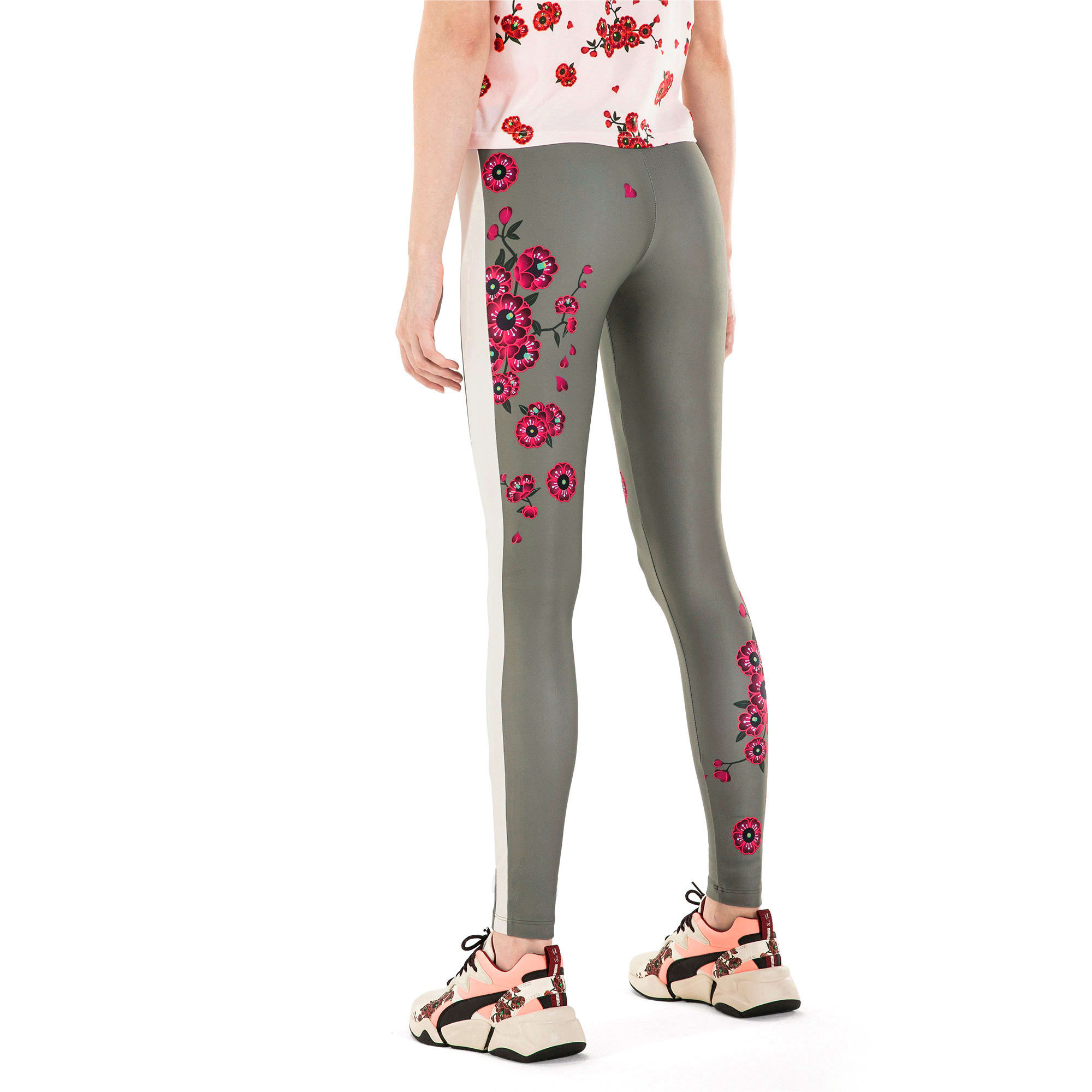 Thumbnail 3 van PUMA x SUE TSAI Blossom legging voor vrouwen, -Olivine, medium