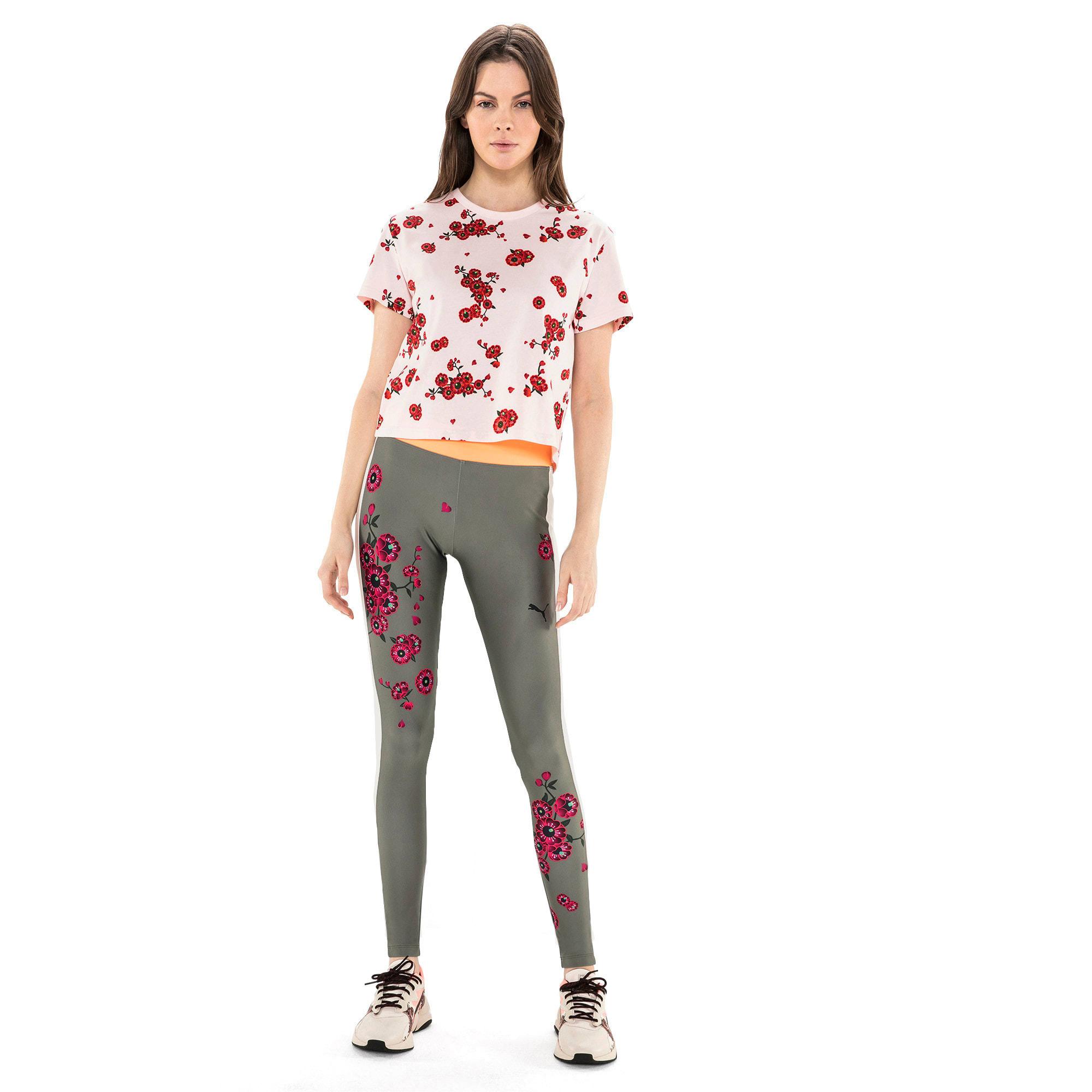 Thumbnail 5 van PUMA x SUE TSAI Blossom legging voor vrouwen, -Olivine, medium