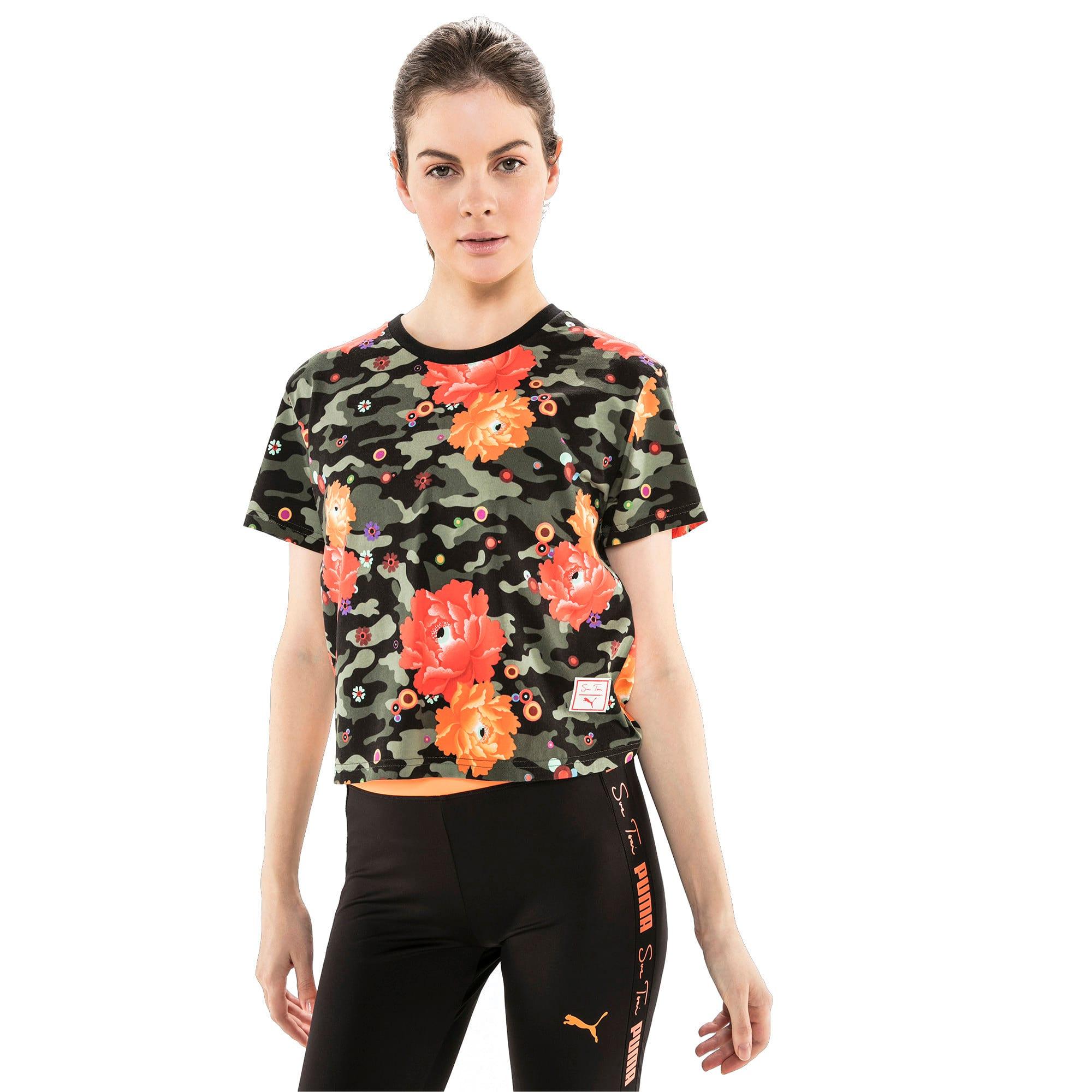 Thumbnail 2 of T-Shirt PUMA x SUE TSAI pour femme, Puma Black- Peony, medium
