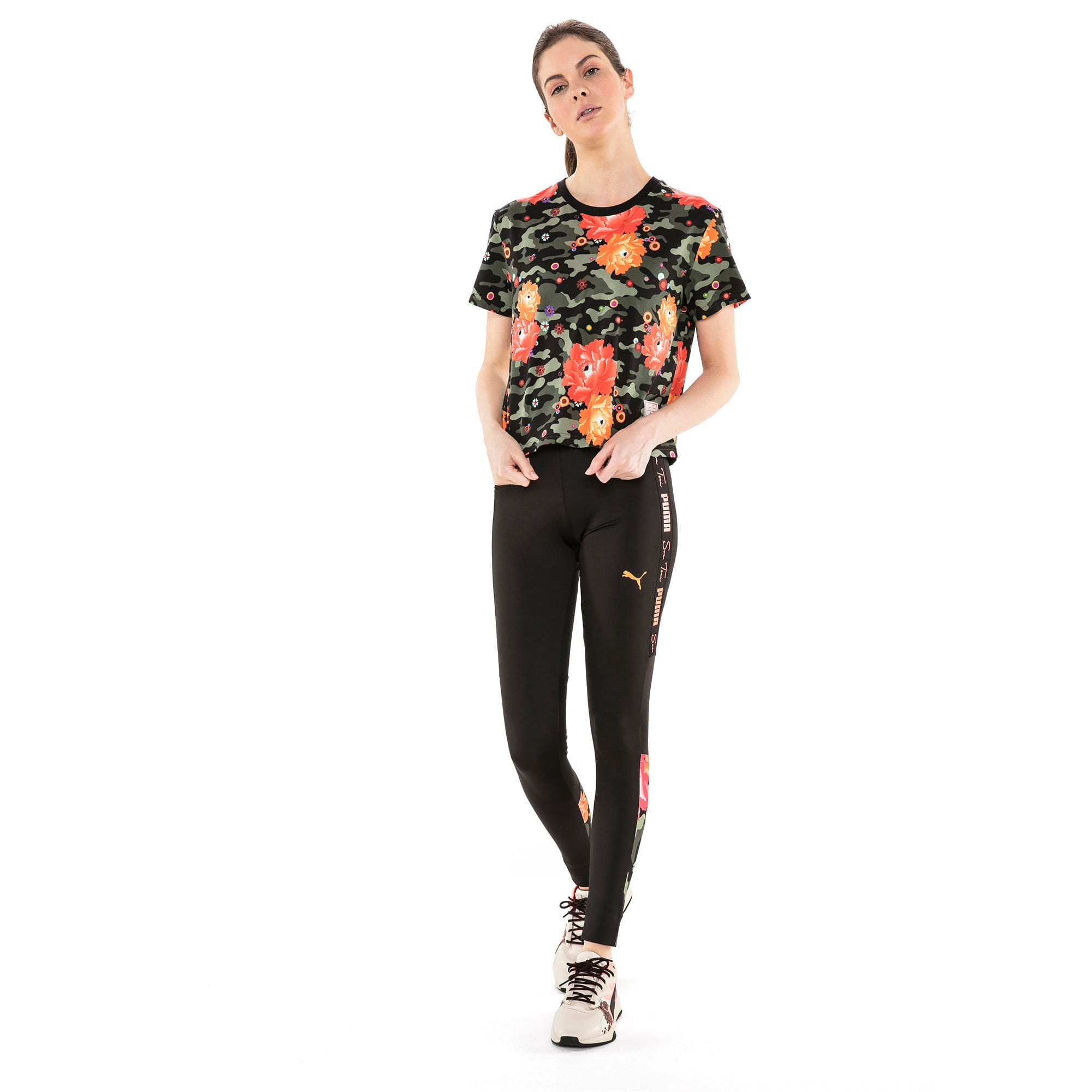 Thumbnail 3 of T-Shirt PUMA x SUE TSAI pour femme, Puma Black- Peony, medium