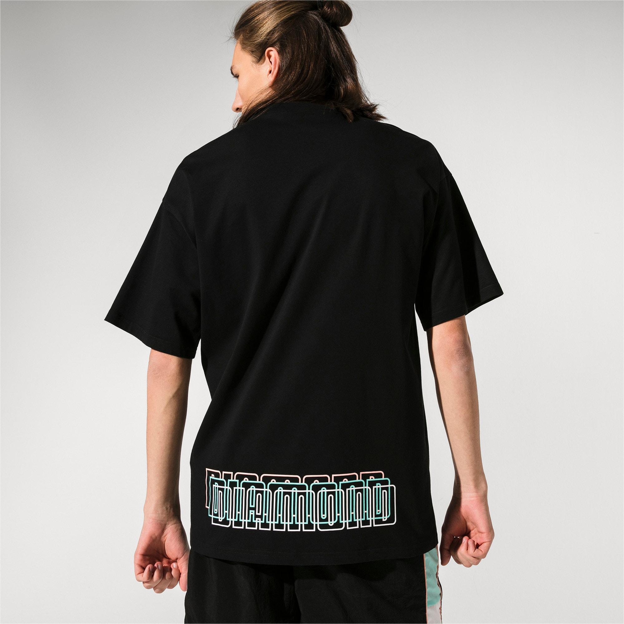 Thumbnail 2 of PUMA x DIAMOND T-shirt met korte mouwen voor heren, Puma Black, medium