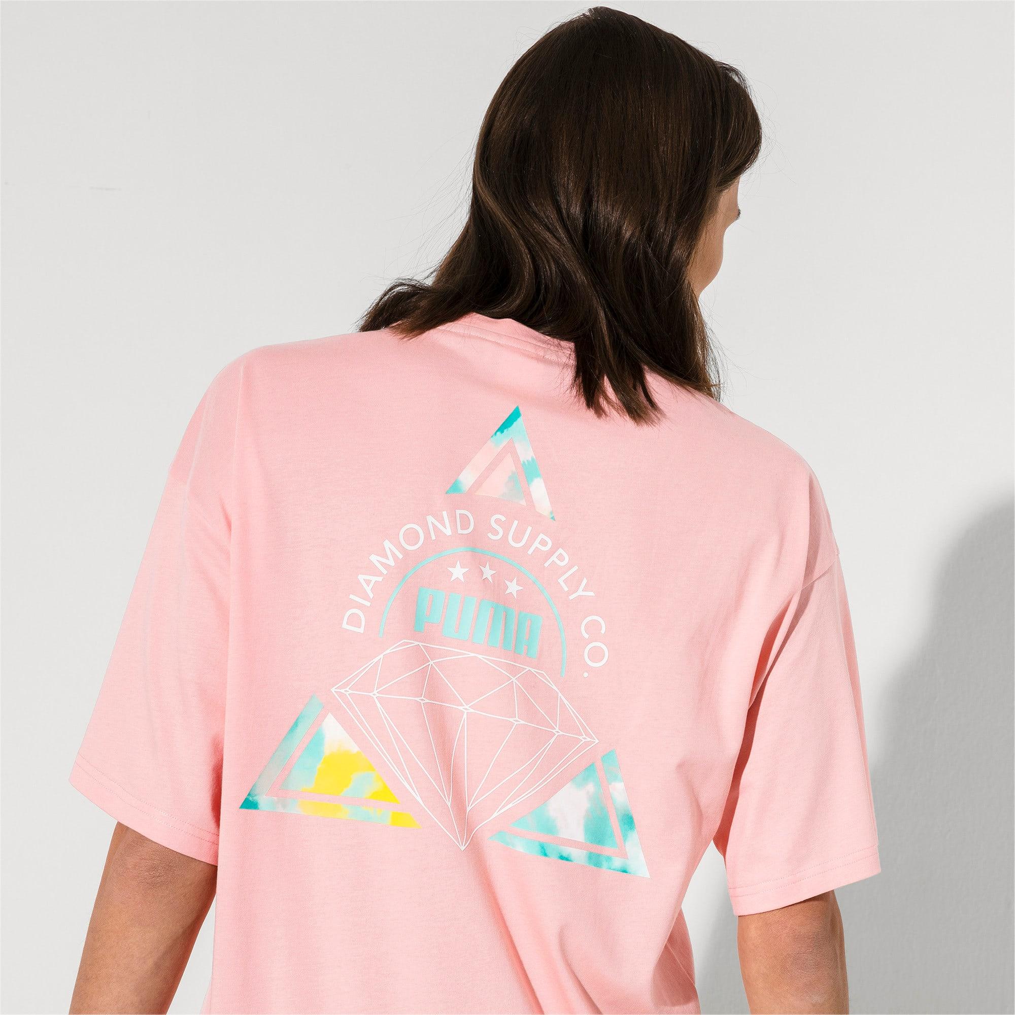 Thumbnail 3 van PUMA x DIAMOND T-shirt met korte mouwen voor heren, Peach Bud, medium