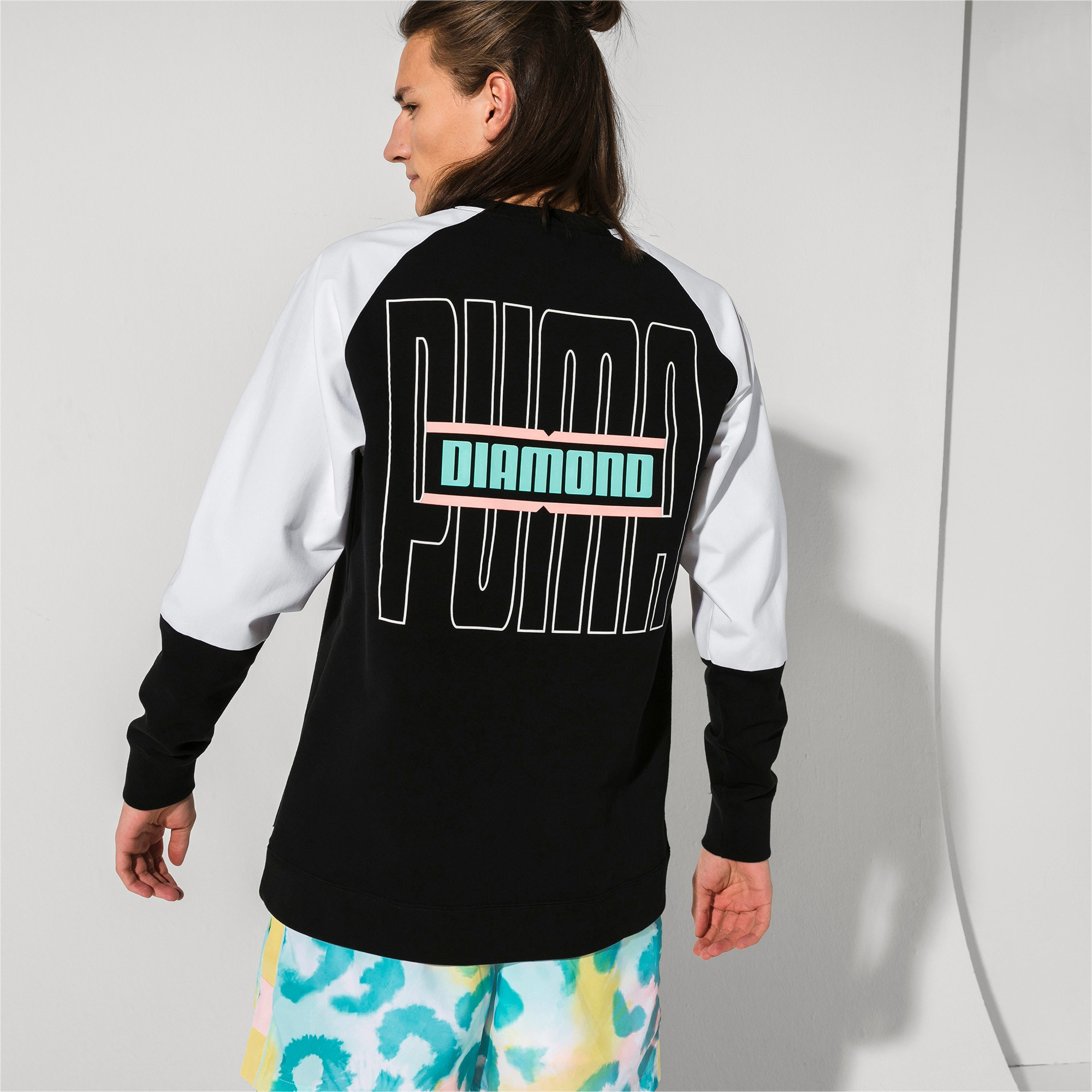 Thumbnail 2 of PUMA x DIAMOND Crew Neck Pullover, Puma Black, medium