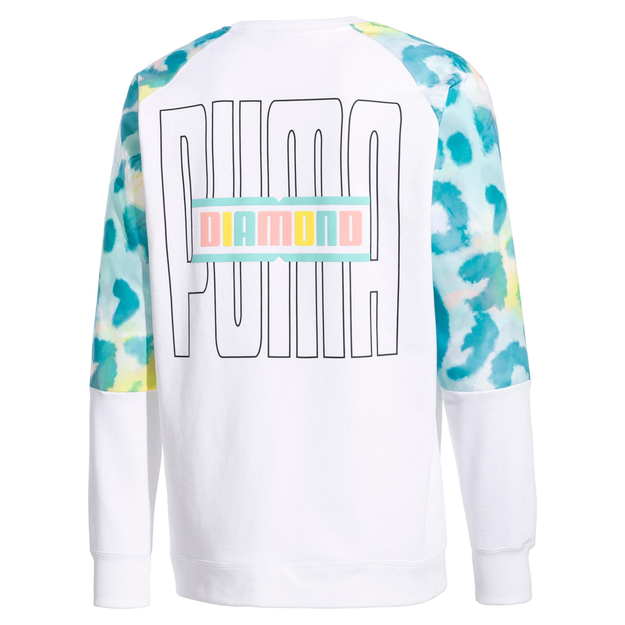 Thumbnail 5 van PUMA x DIAMOND pullover met ronde hals, Puma White-AOP, medium